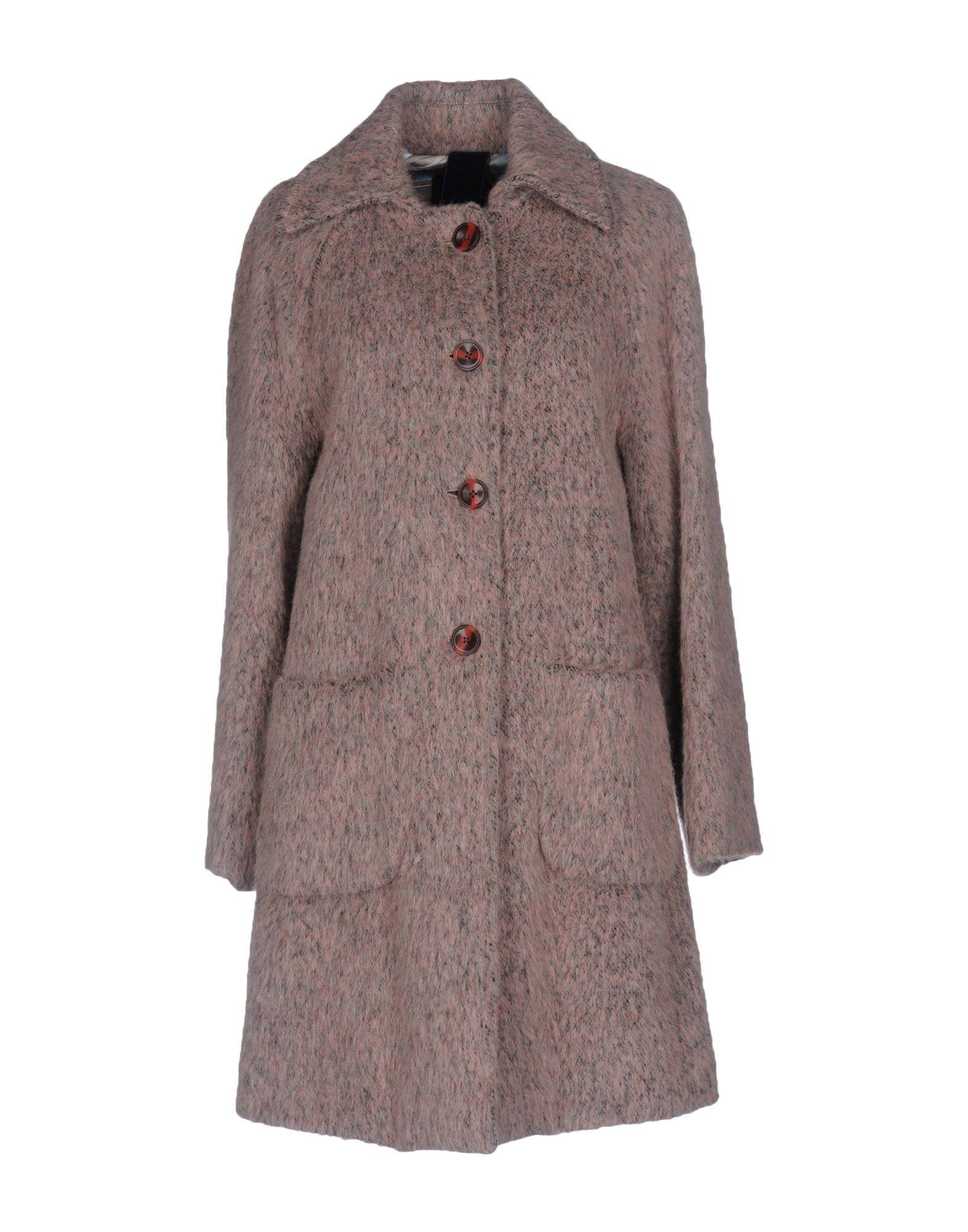 Femme By Michele Rossi Coats In Pink
