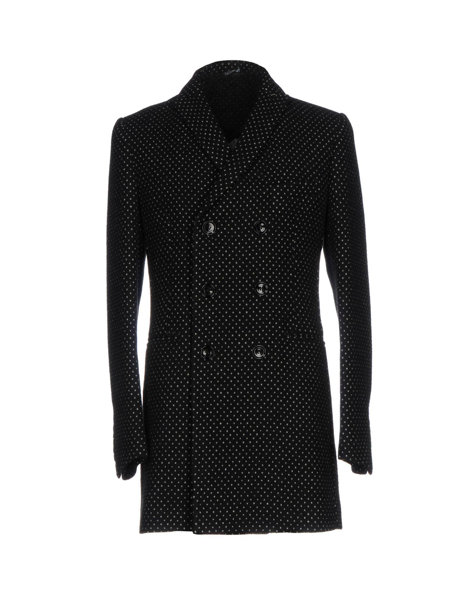 Grey Daniele Alessandrini Coat In Black