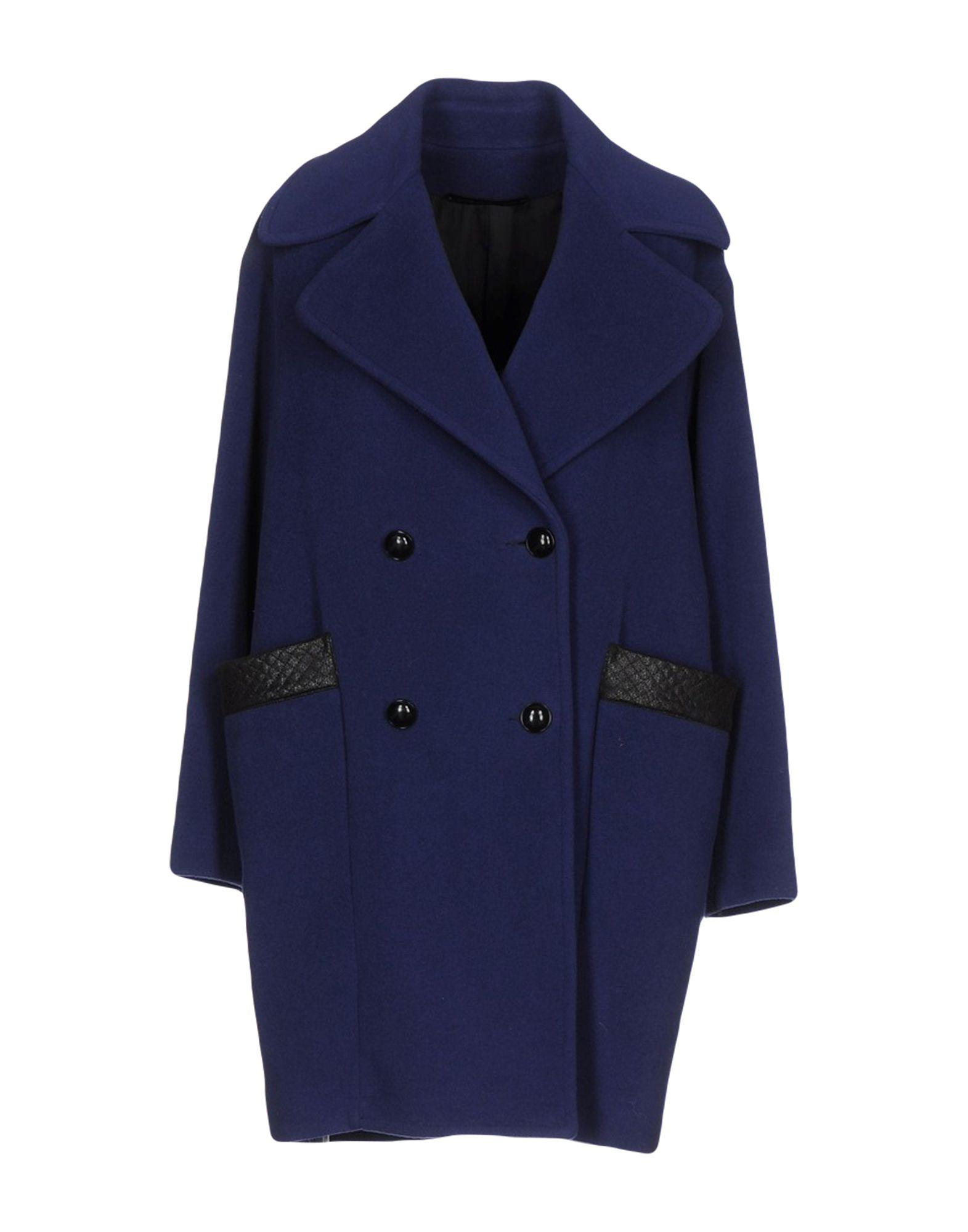 Atos Lombardini Coat In Dark Purple