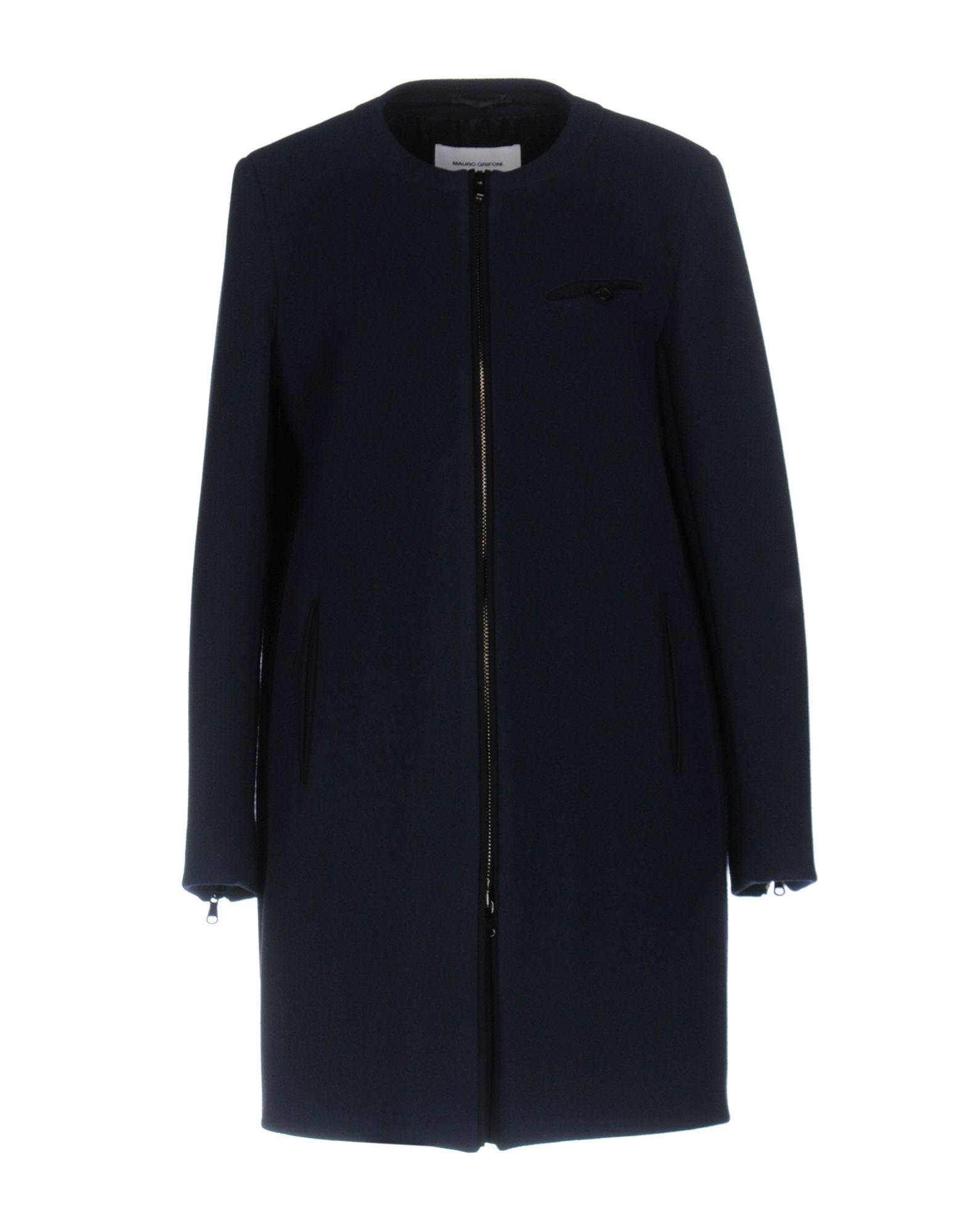 Mauro Grifoni Coat In Dark Blue
