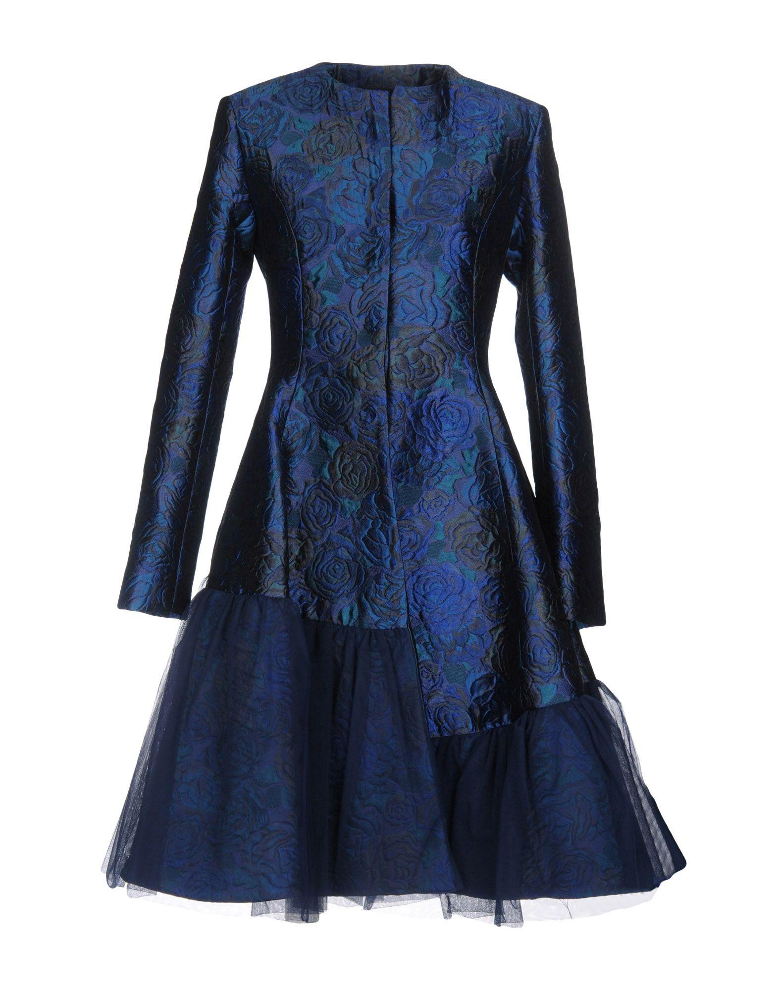 Io Couture Coats In Blue