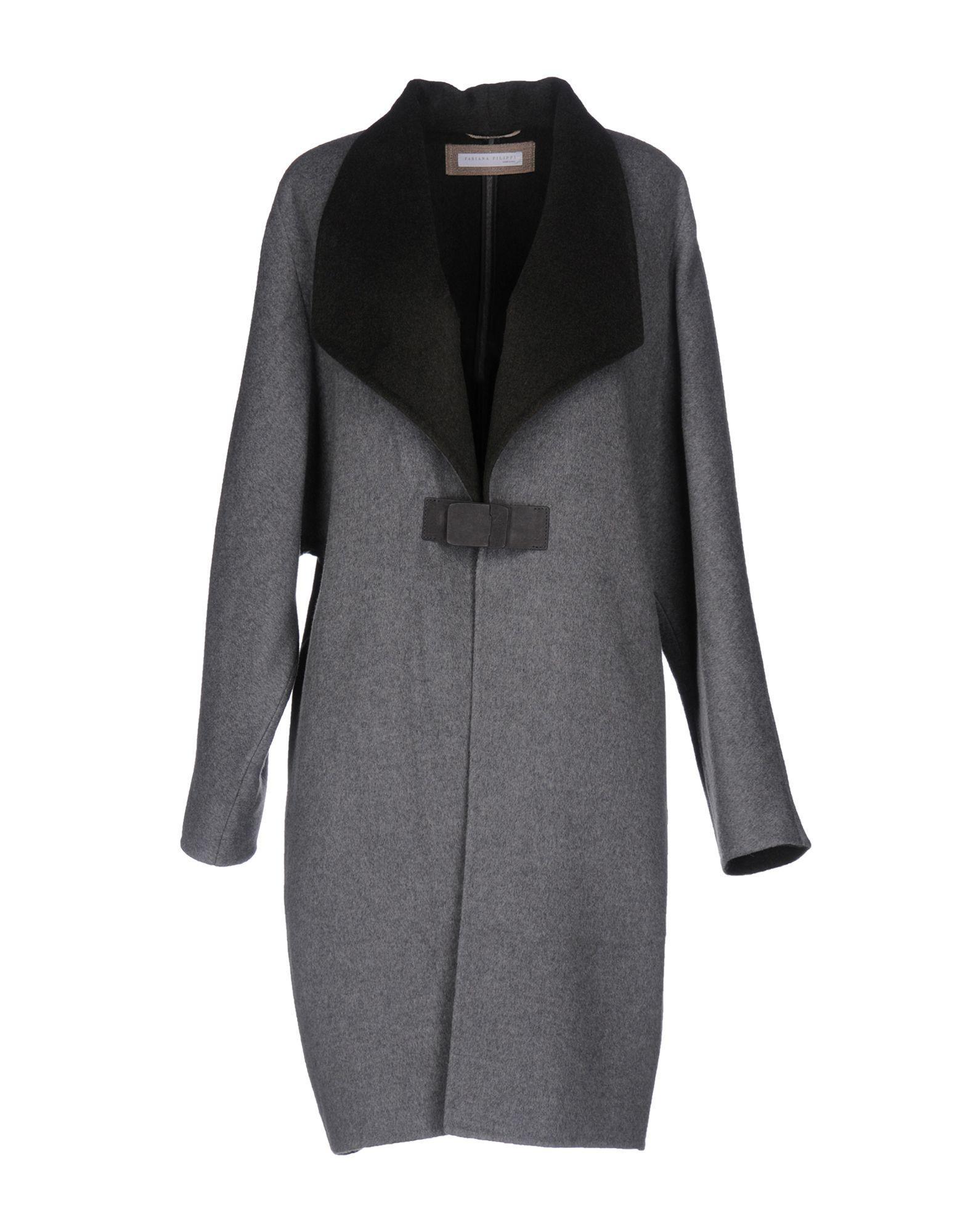 Fabiana Filippi Coats In Grey