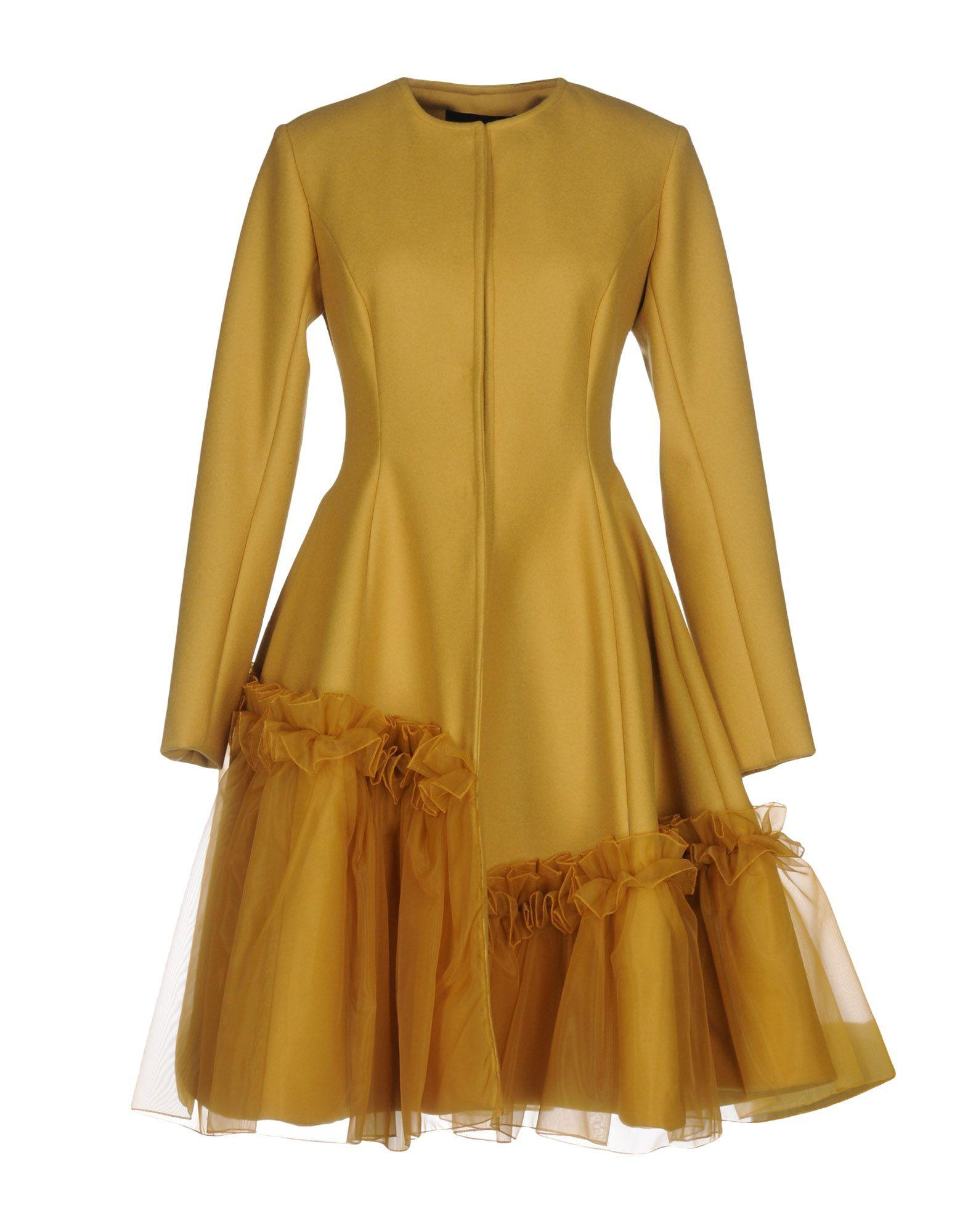 Io Couture Coats In Ocher