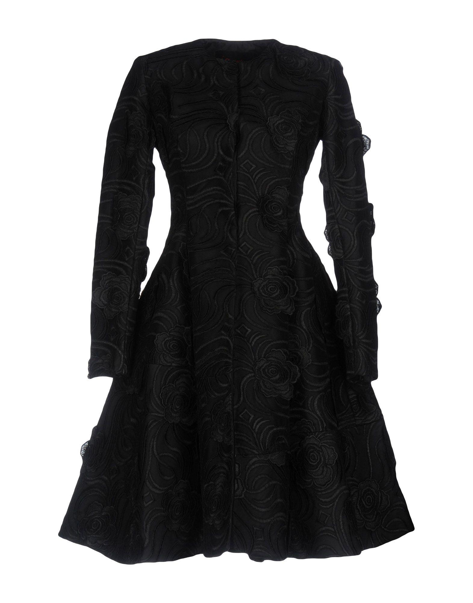 Io Couture Coats In Black