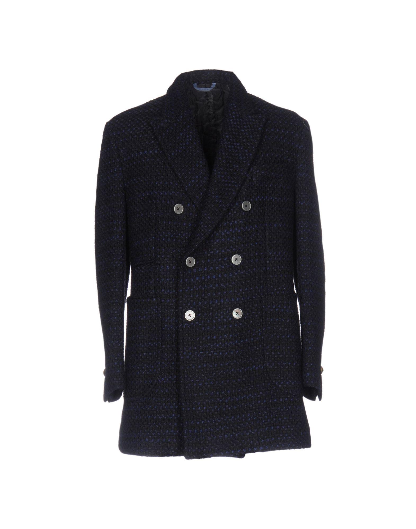 John Sheep Coat In Dark Blue