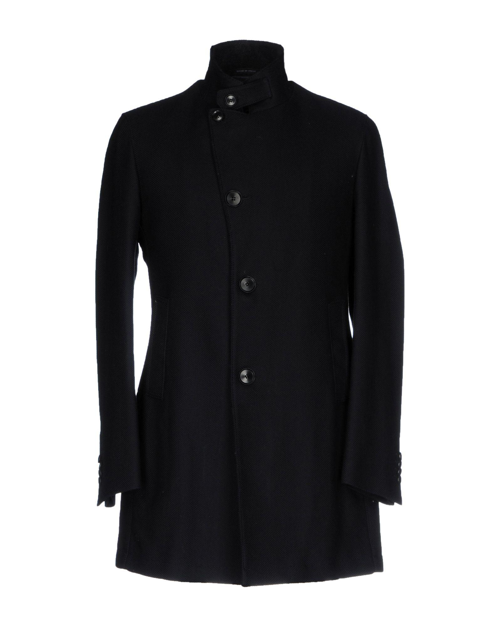 Tagliatore Coats In Dark Blue