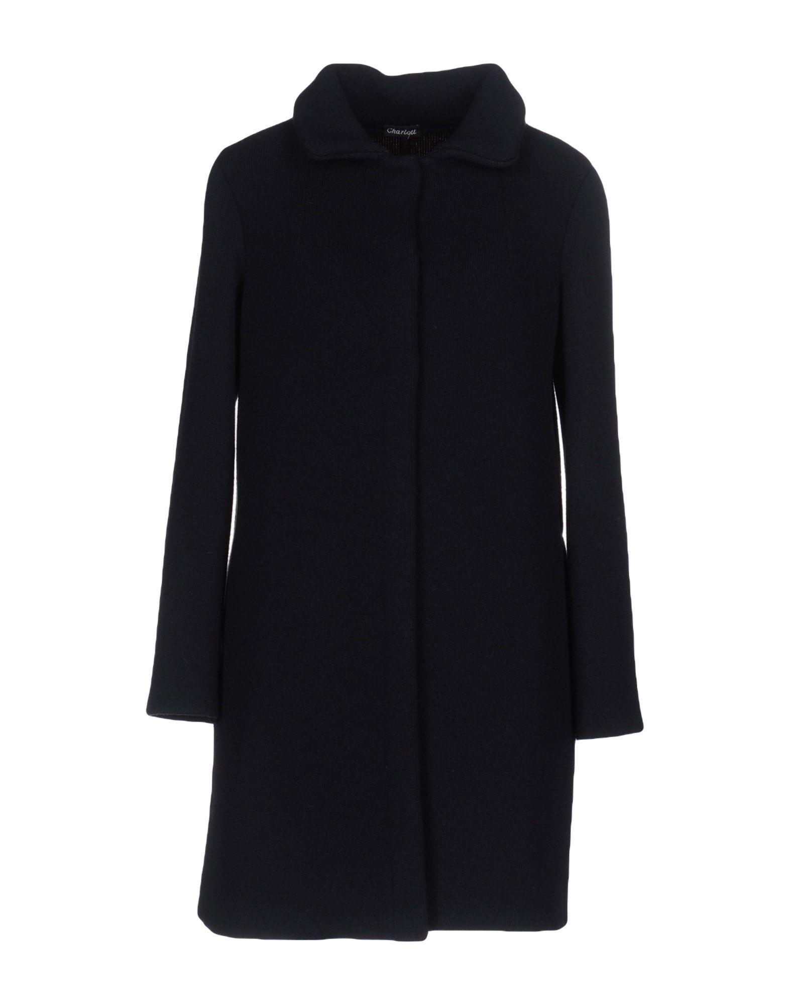 Charlott Coats In Dark Blue