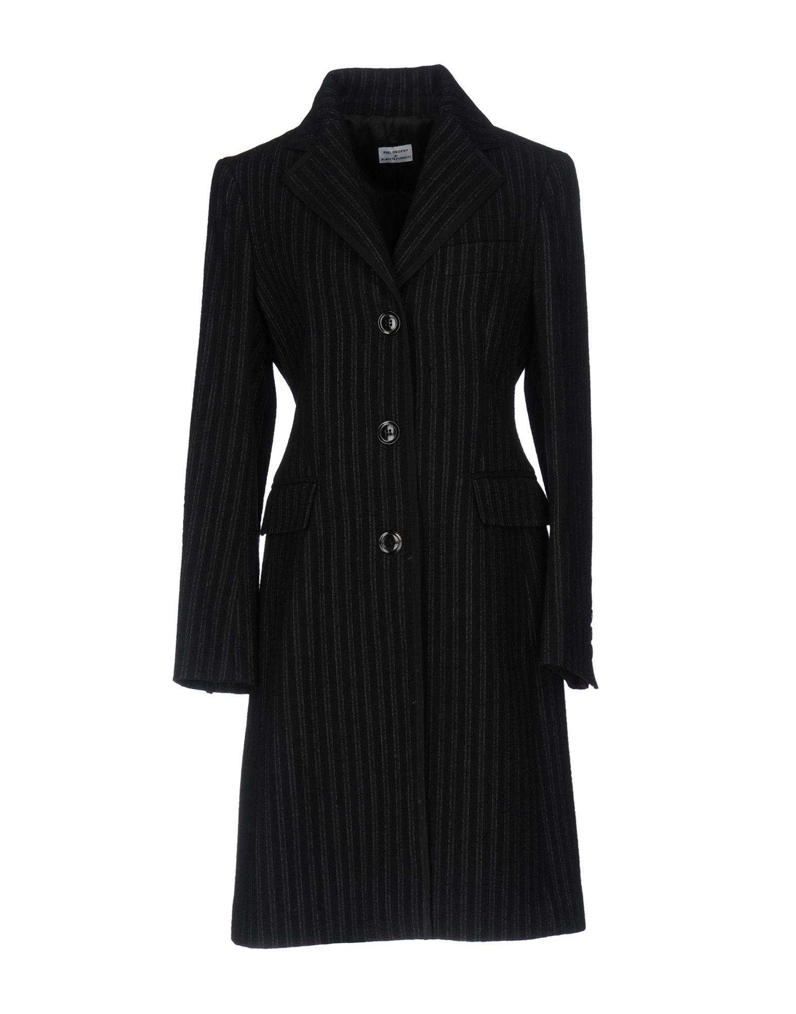 Philosophy Di Alberta Ferretti Coats In Black