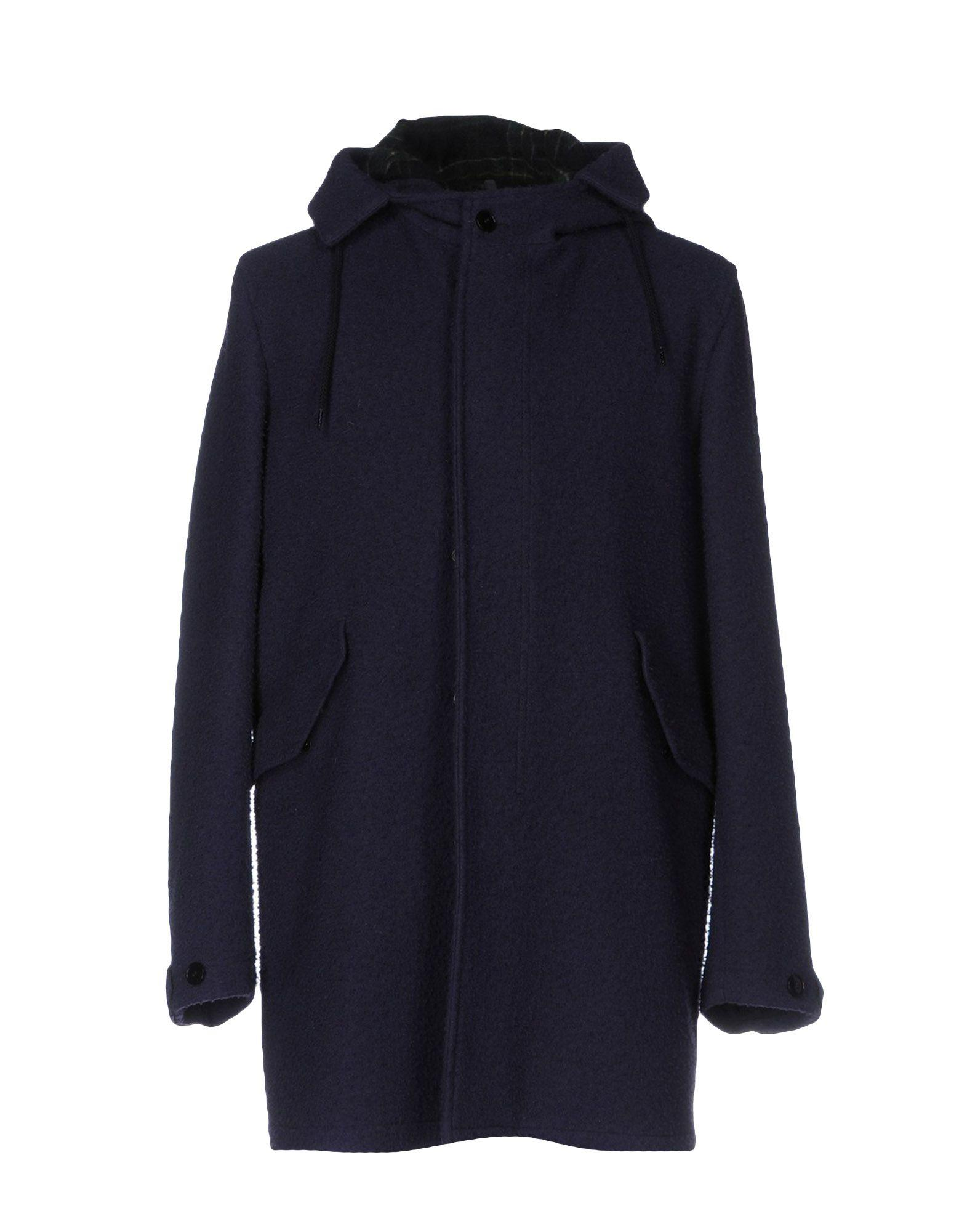 Montedoro Coats In Dark Blue