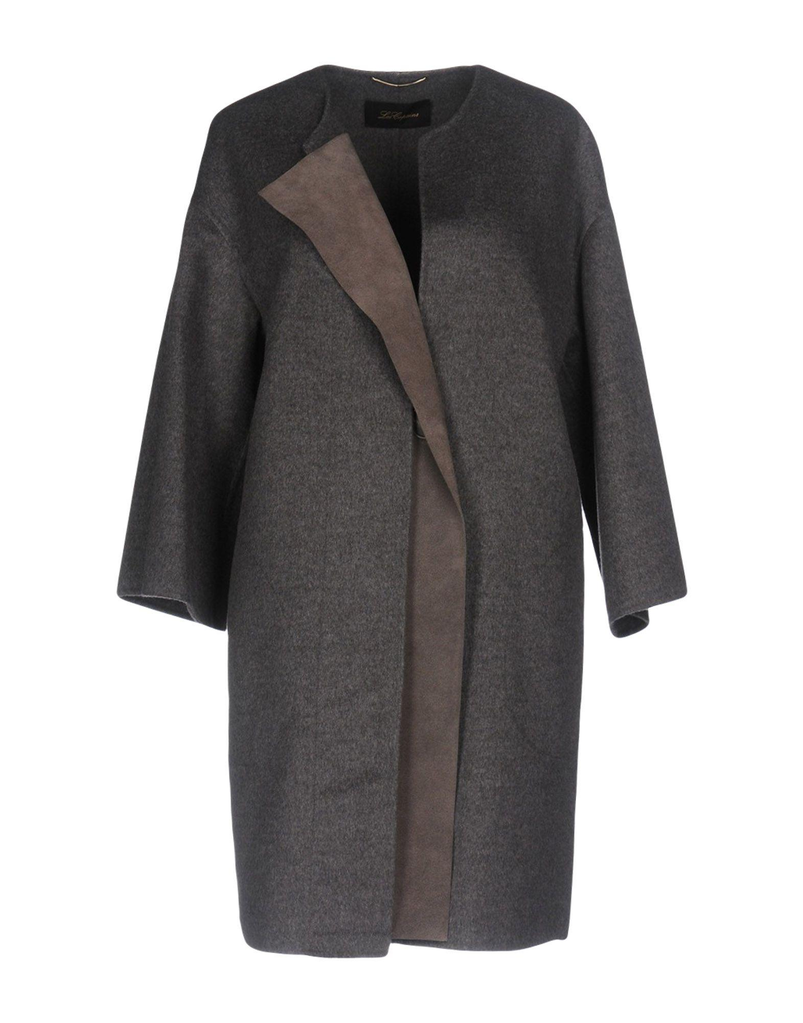 Les Copains Coat In Grey