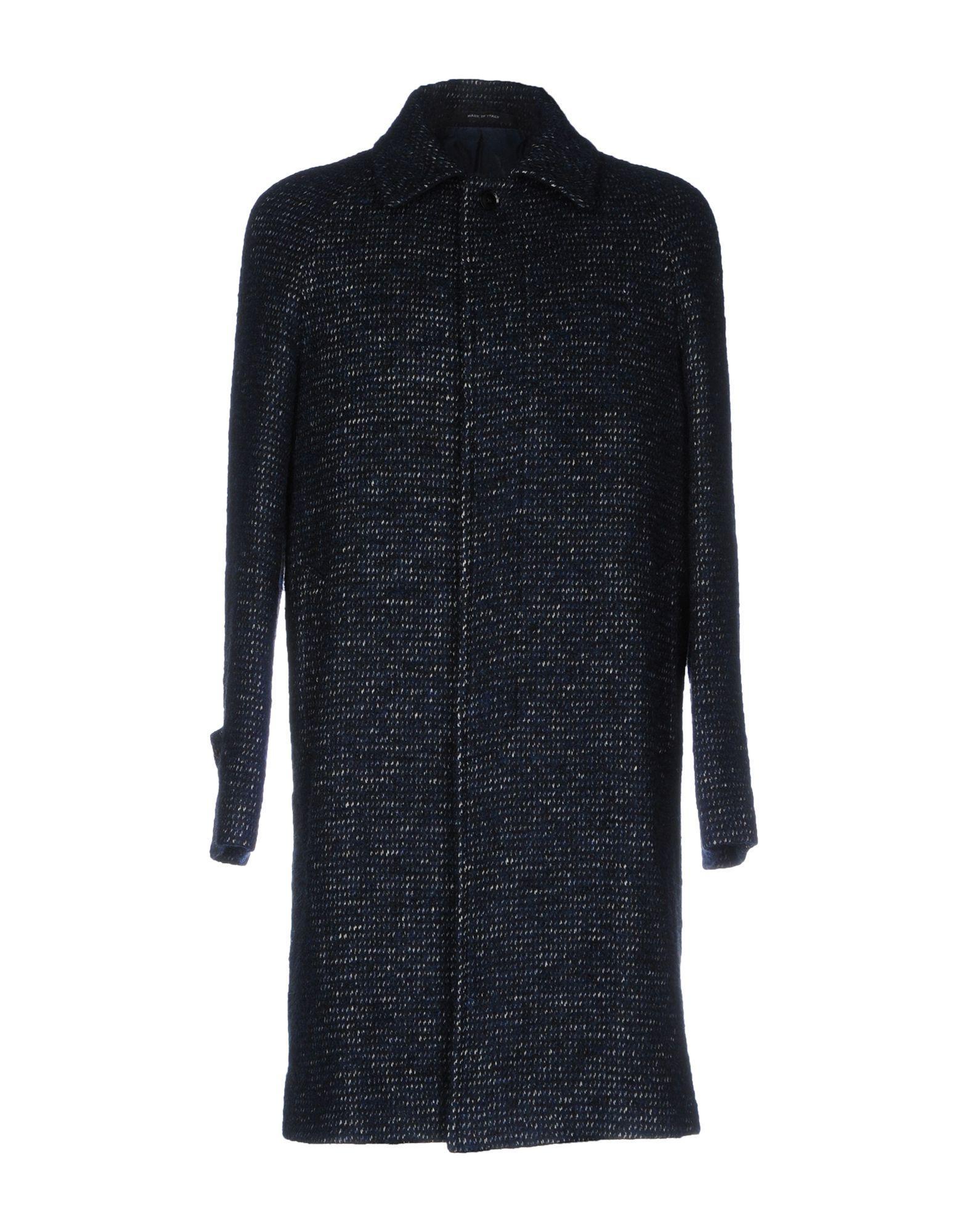 Tagliatore Coats In Dark Blue