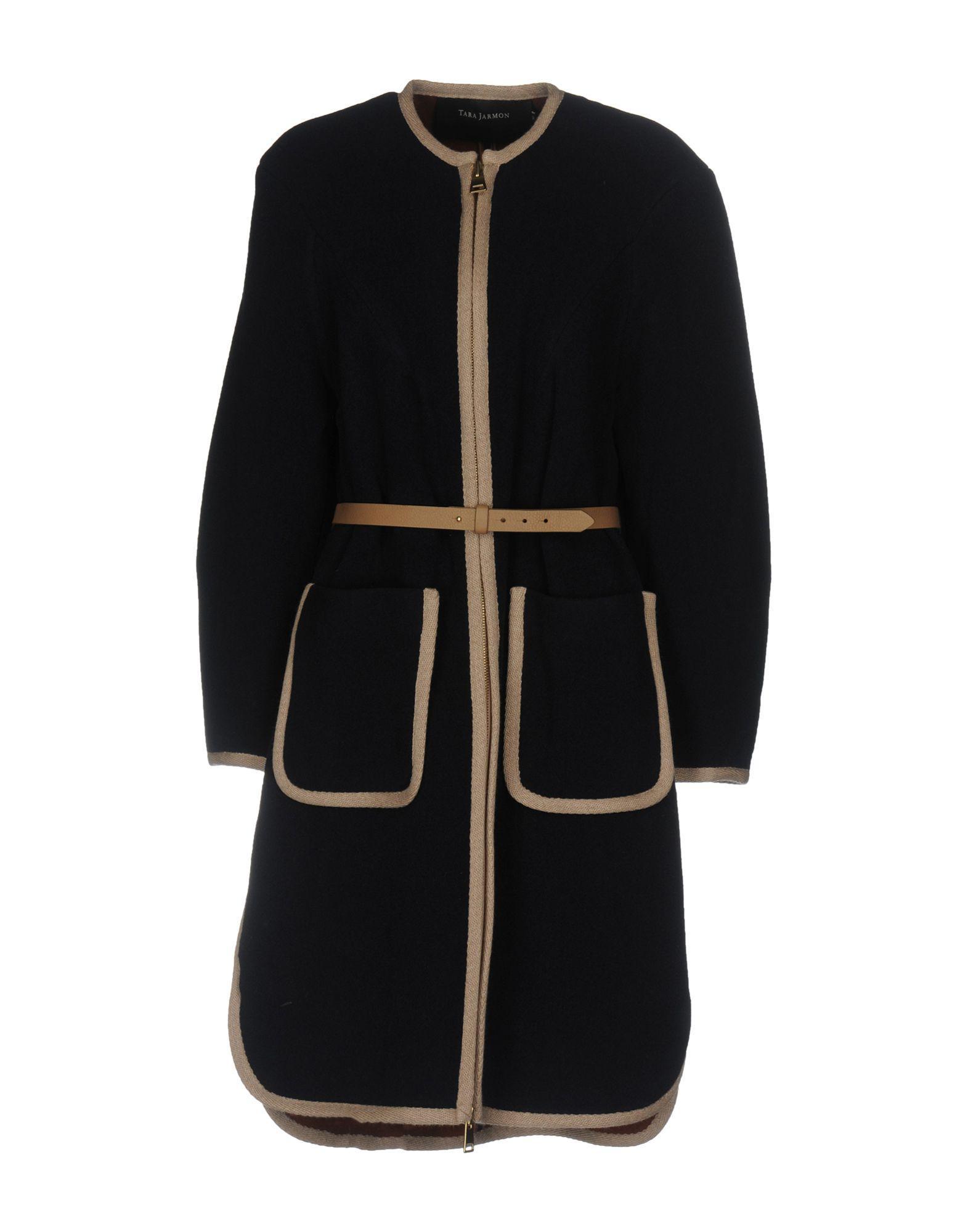 Tara Jarmon Coats In Dark Blue