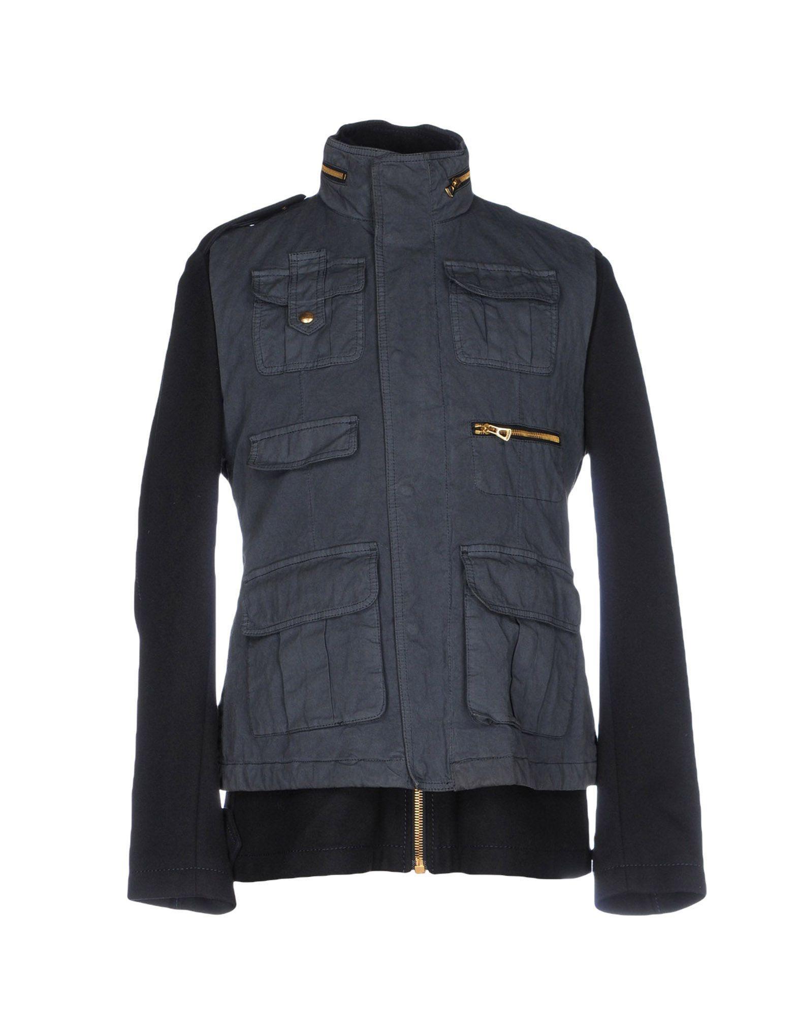 Hugo Boss Coats In Dark Blue