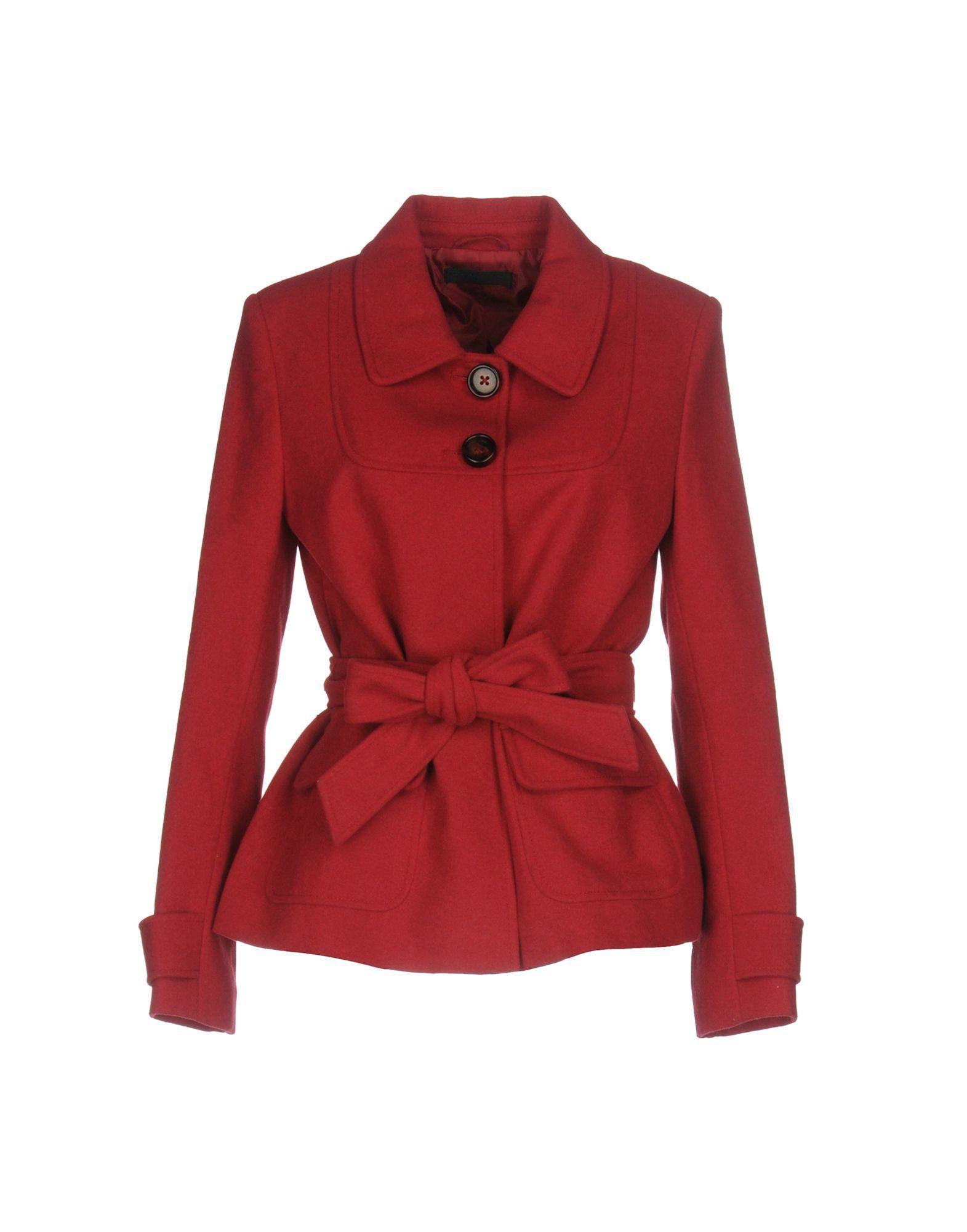 Twinset Coats In Garnet