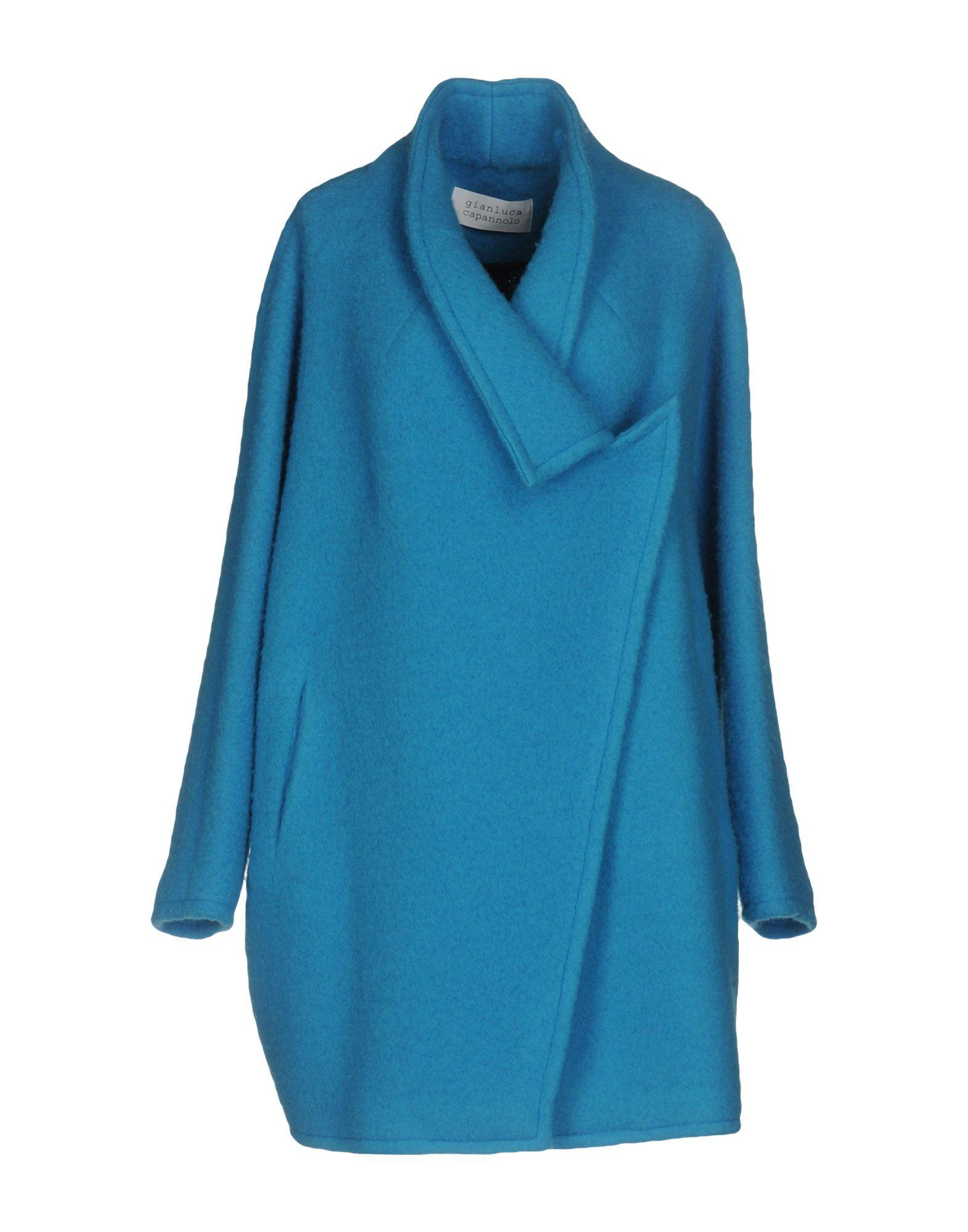 Gianluca Capannolo Coats In Turquoise