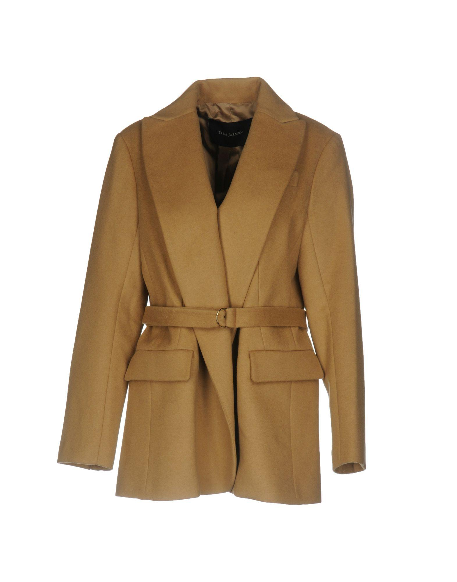 Tara Jarmon Belted Coats In Camel