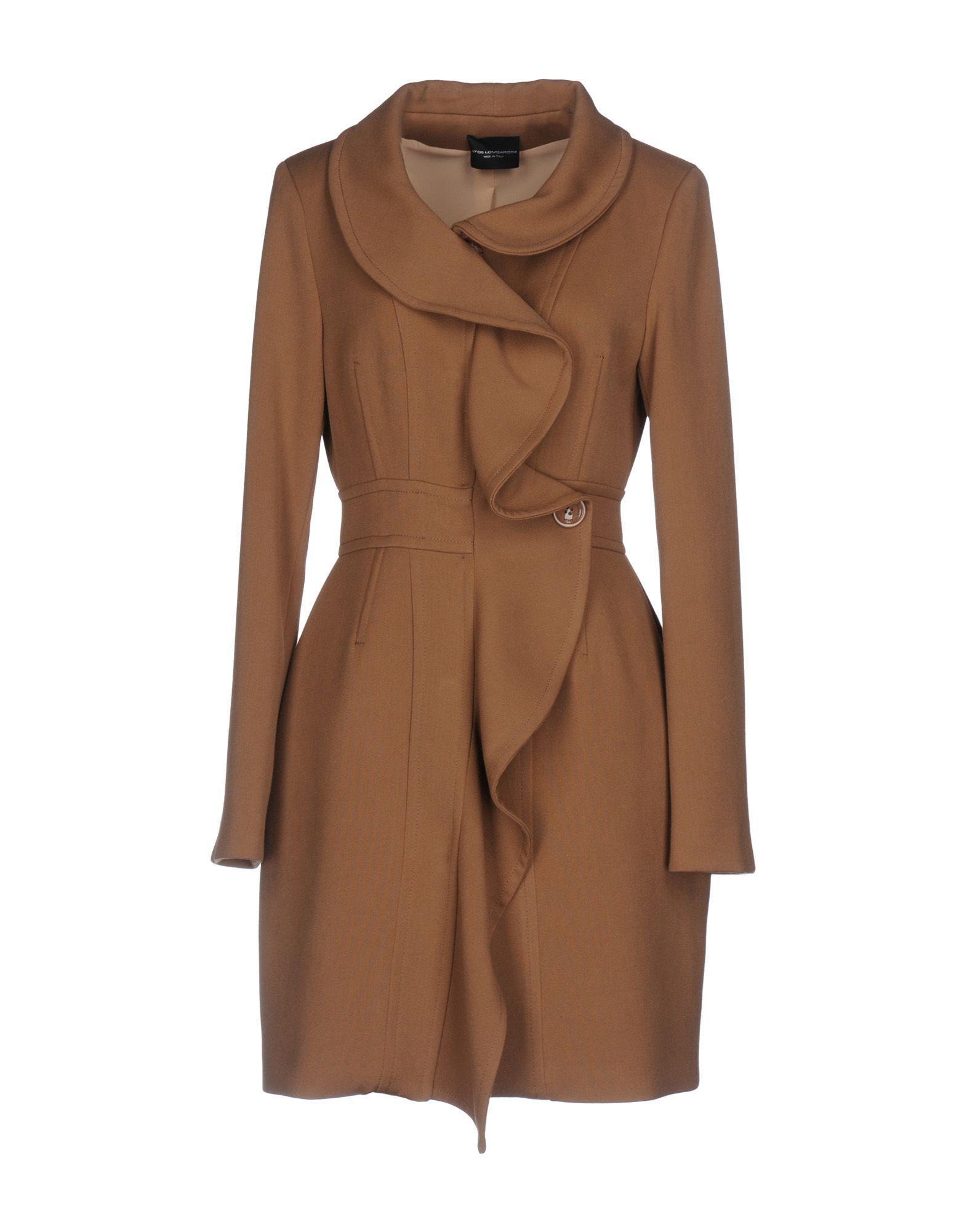 Atos Lombardini Coats In Camel