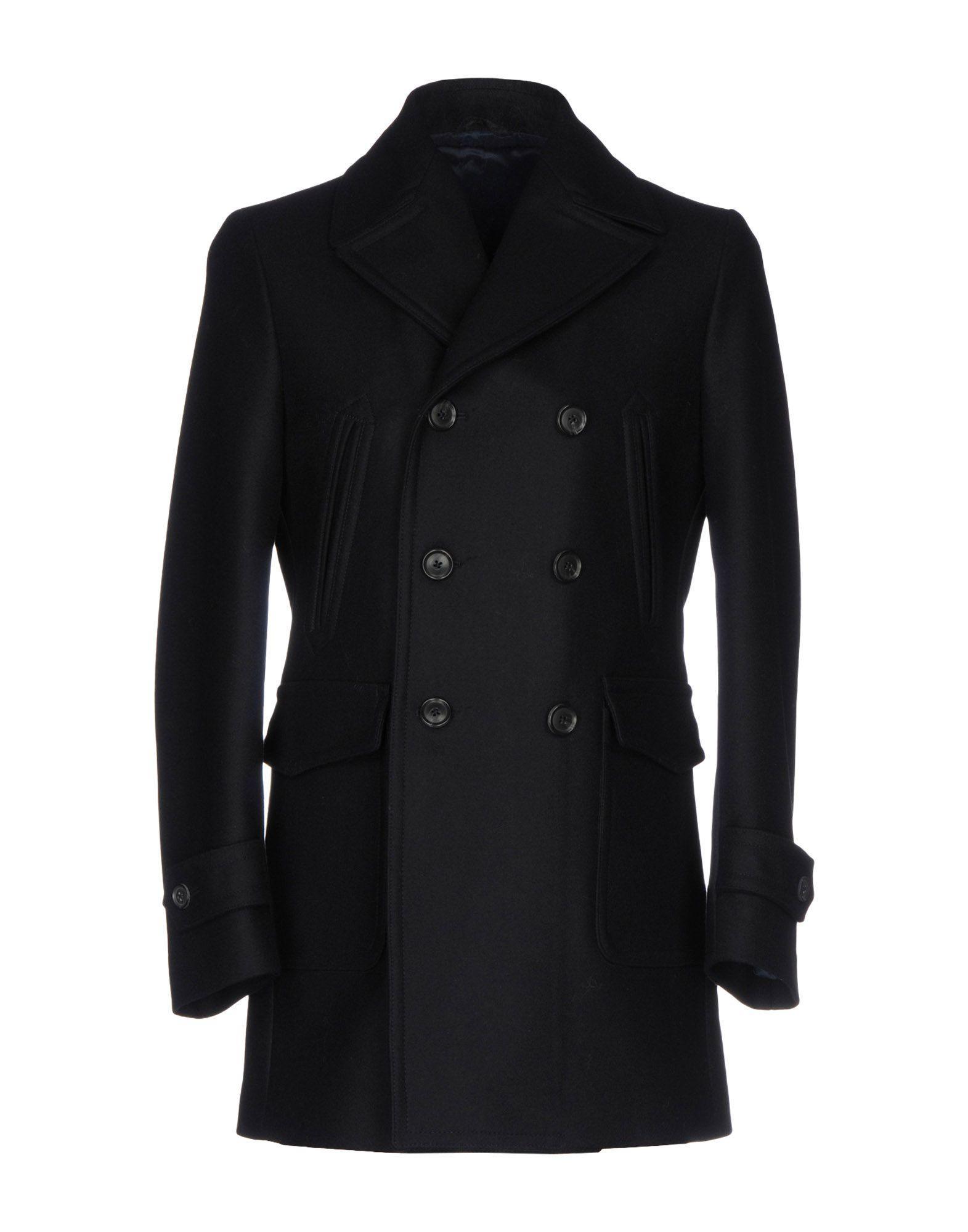 Luigi Bianchi Mantova Coats In Dark Blue