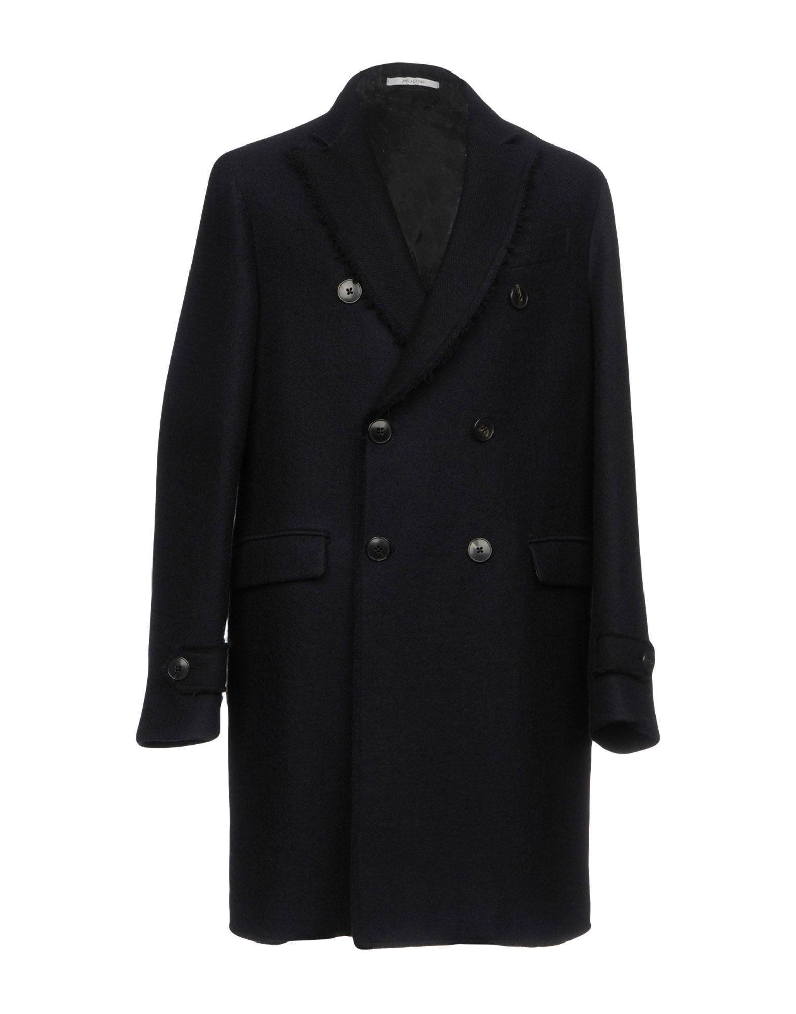 Aglini Coat In Dark Blue