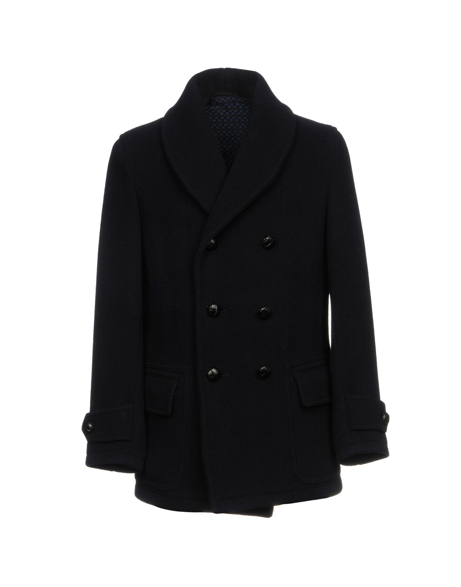 Doppiaa Coats In Dark Blue