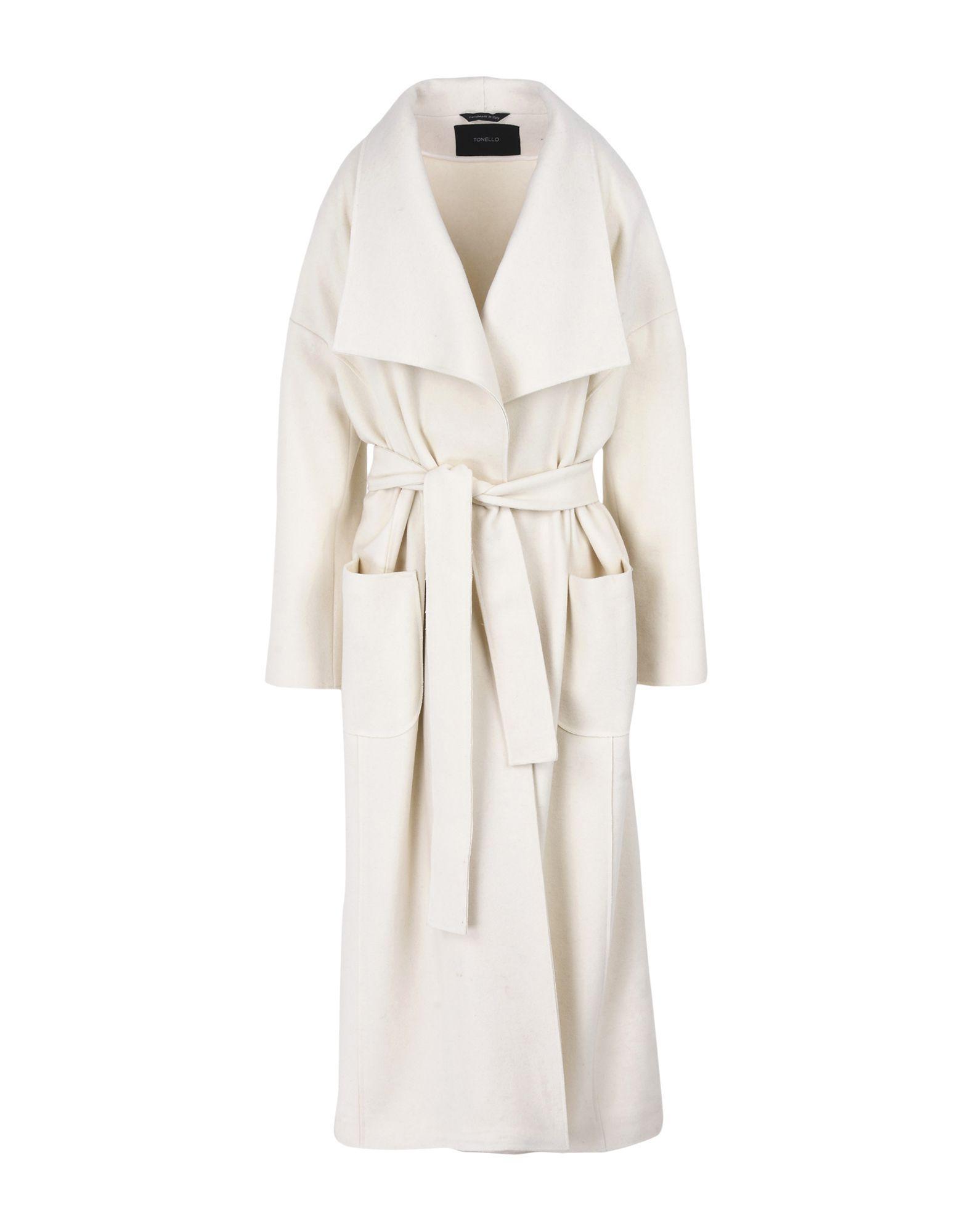 Tonello Coats In Ivory