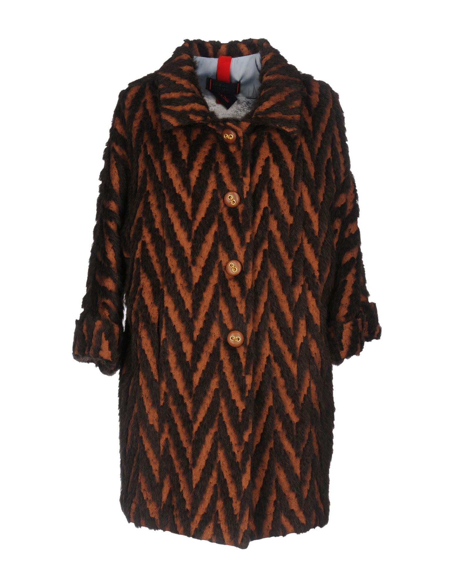 Femme By Michele Rossi Coats In Brown