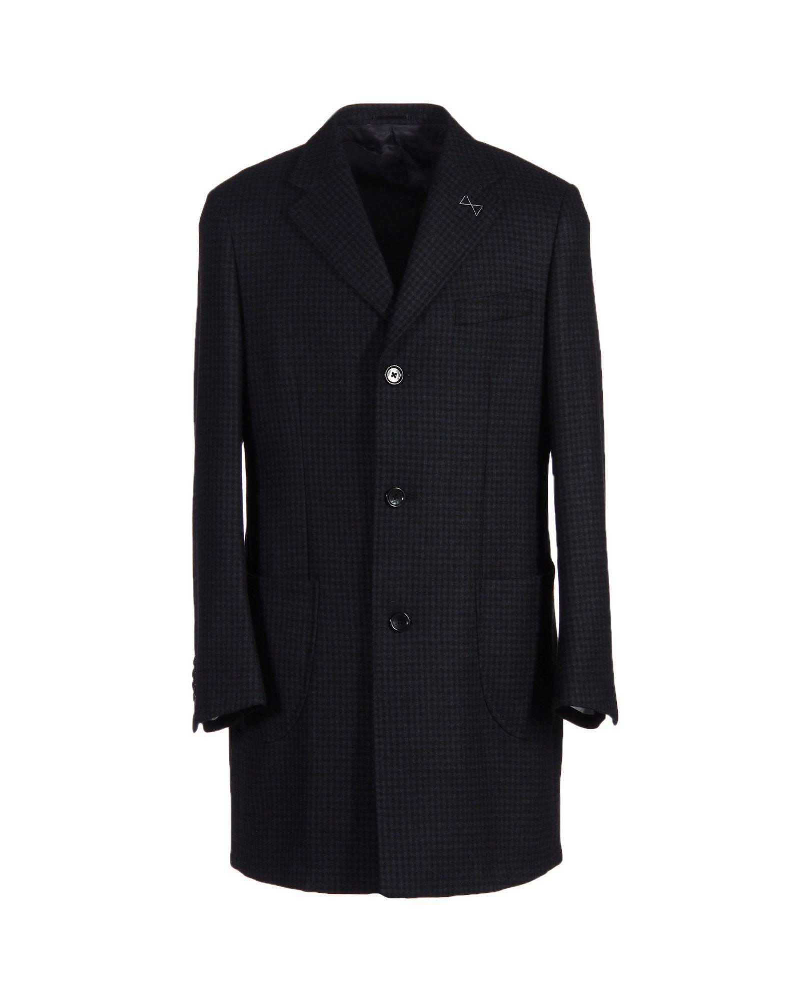 Thom Sweeney Coat In Dark Blue