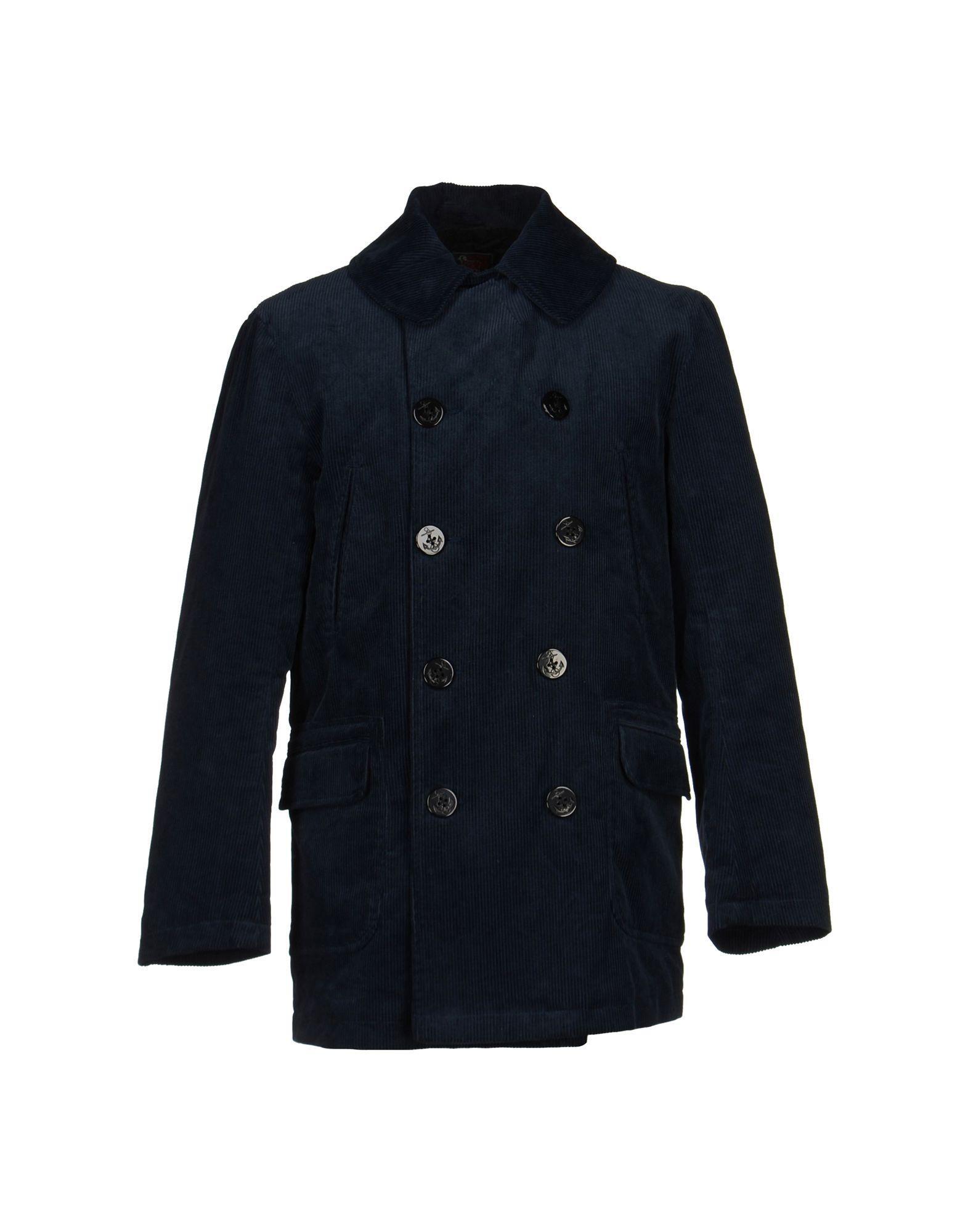 Woolrich Coat In Dark Blue