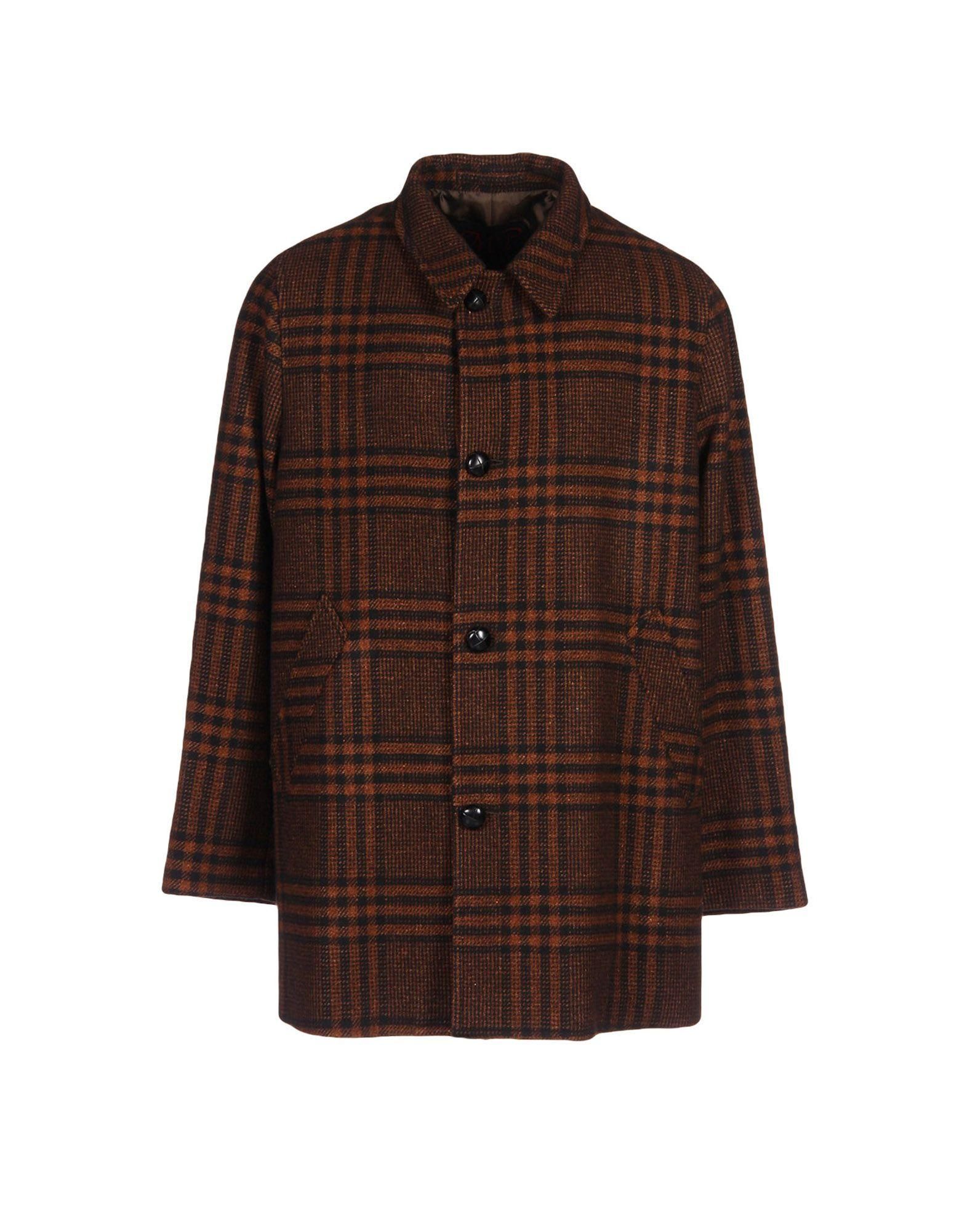Mp Massimo Piombo Coat In Brown