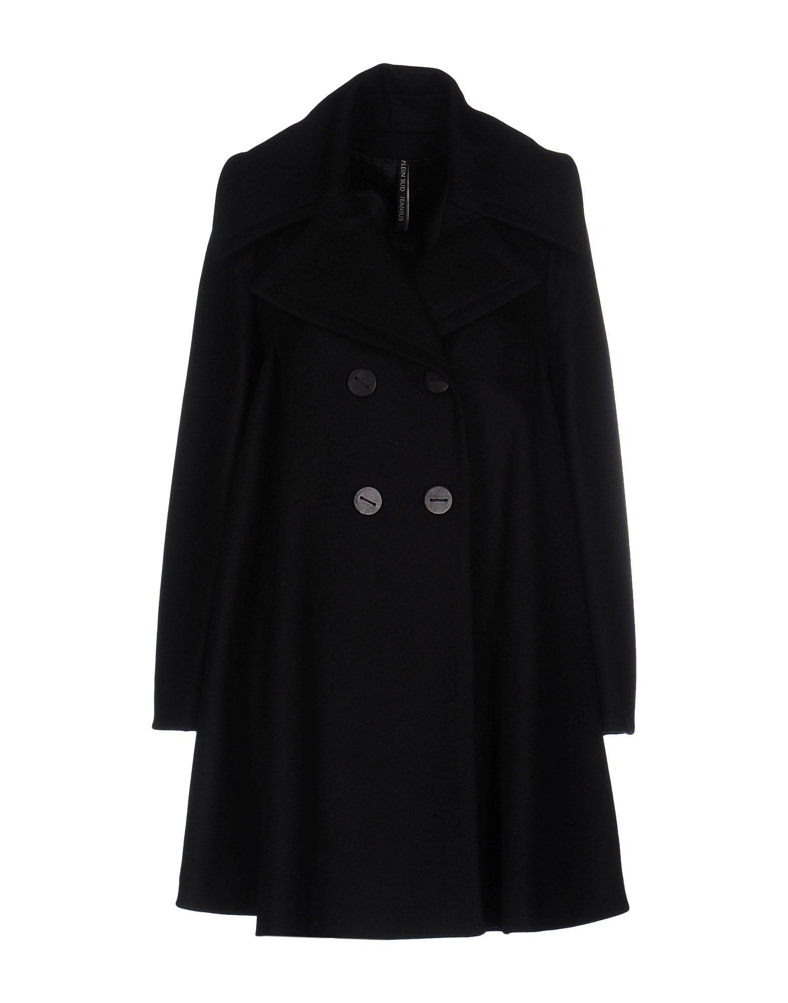 Plein Sud Jeanius Coat In Black