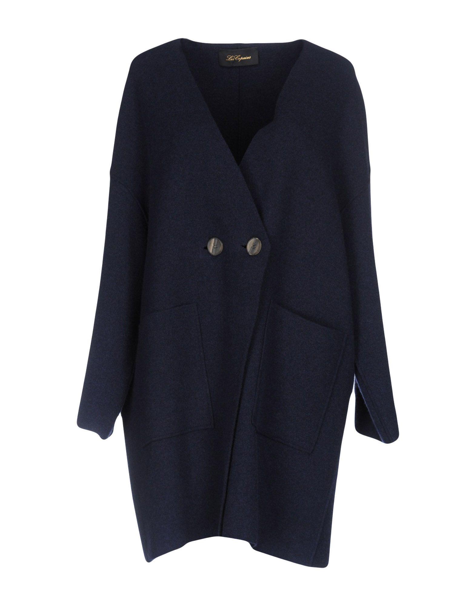 Les Copains Coats In Dark Blue