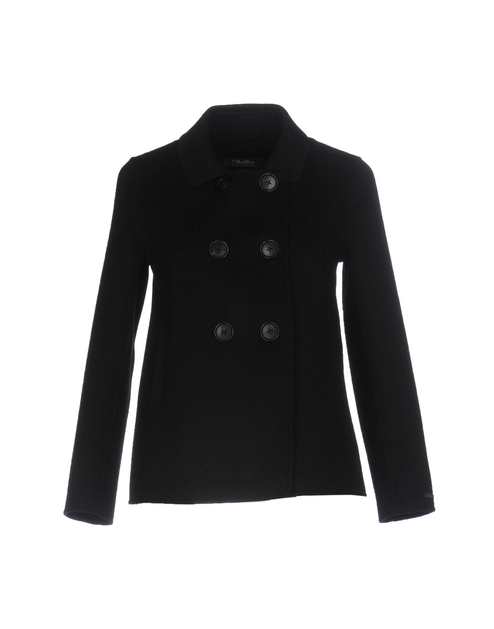 Max Mara Coats In Black