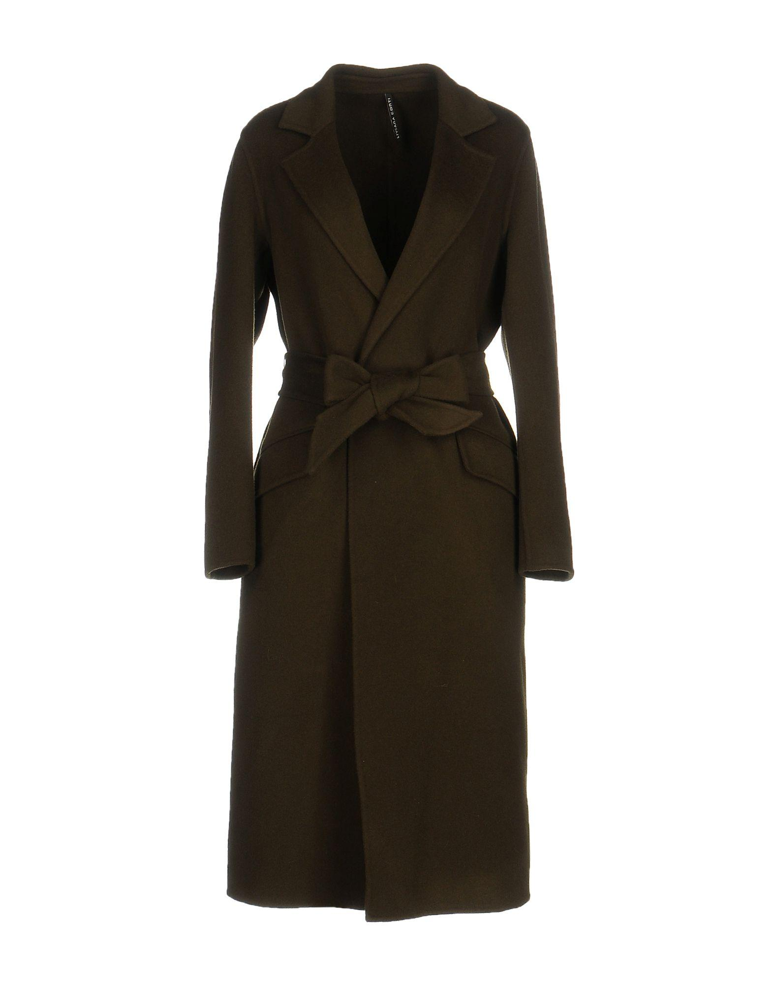 Liviana Conti Coat In Military Green