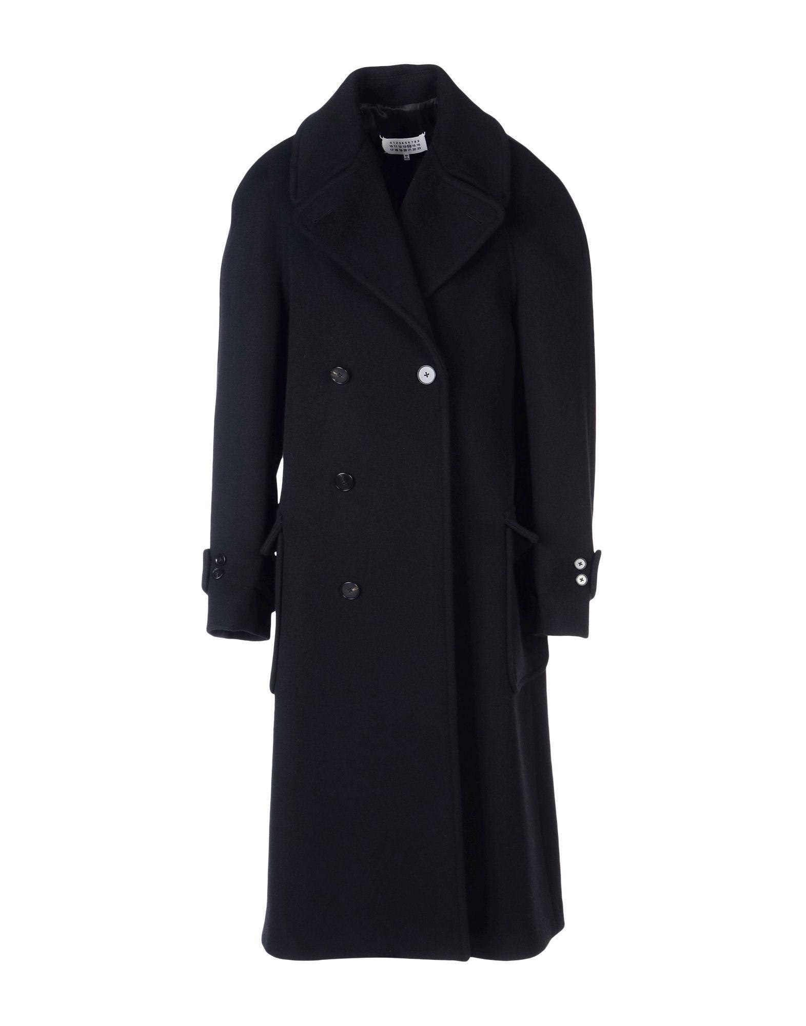 Maison Margiela Coats In Black