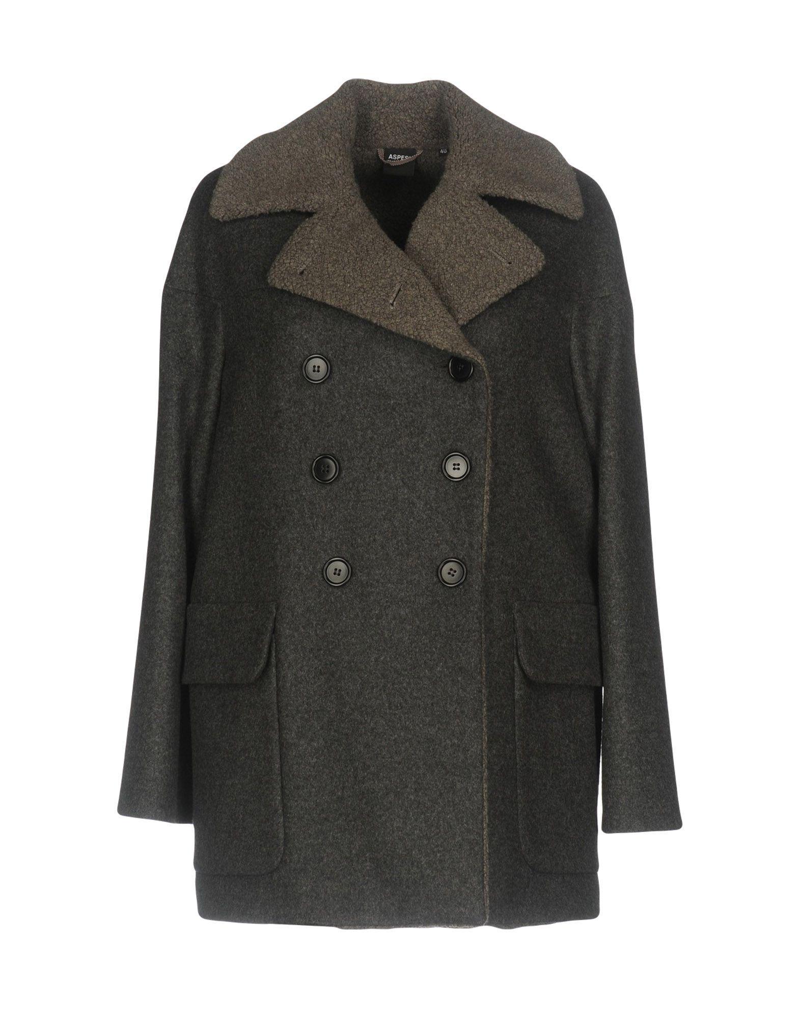 Aspesi Coats In Lead