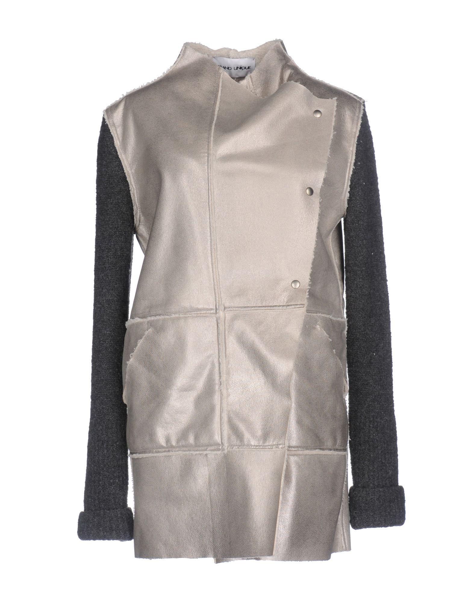 Brand Unique Coat In Light Grey
