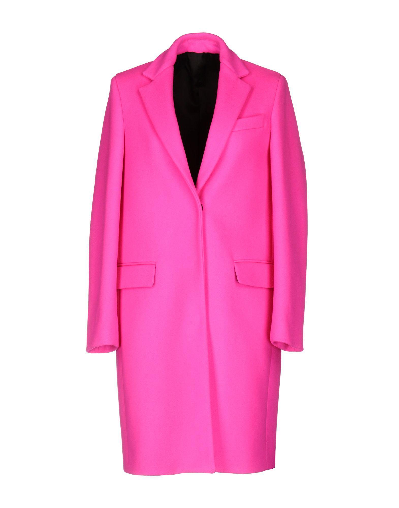 Msgm Coats In Fuchsia