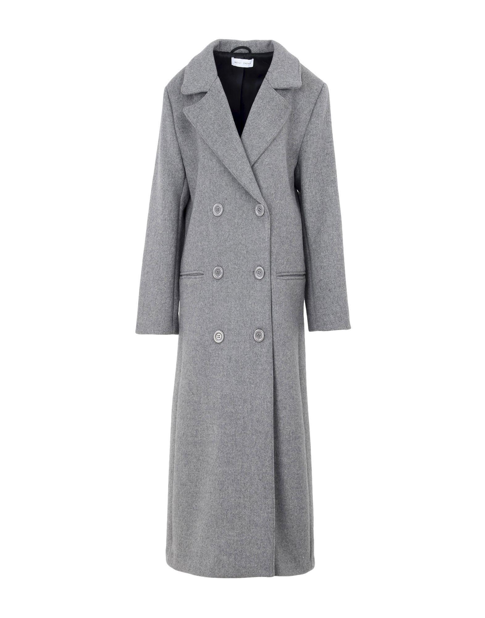Weili Zheng Coats In Grey