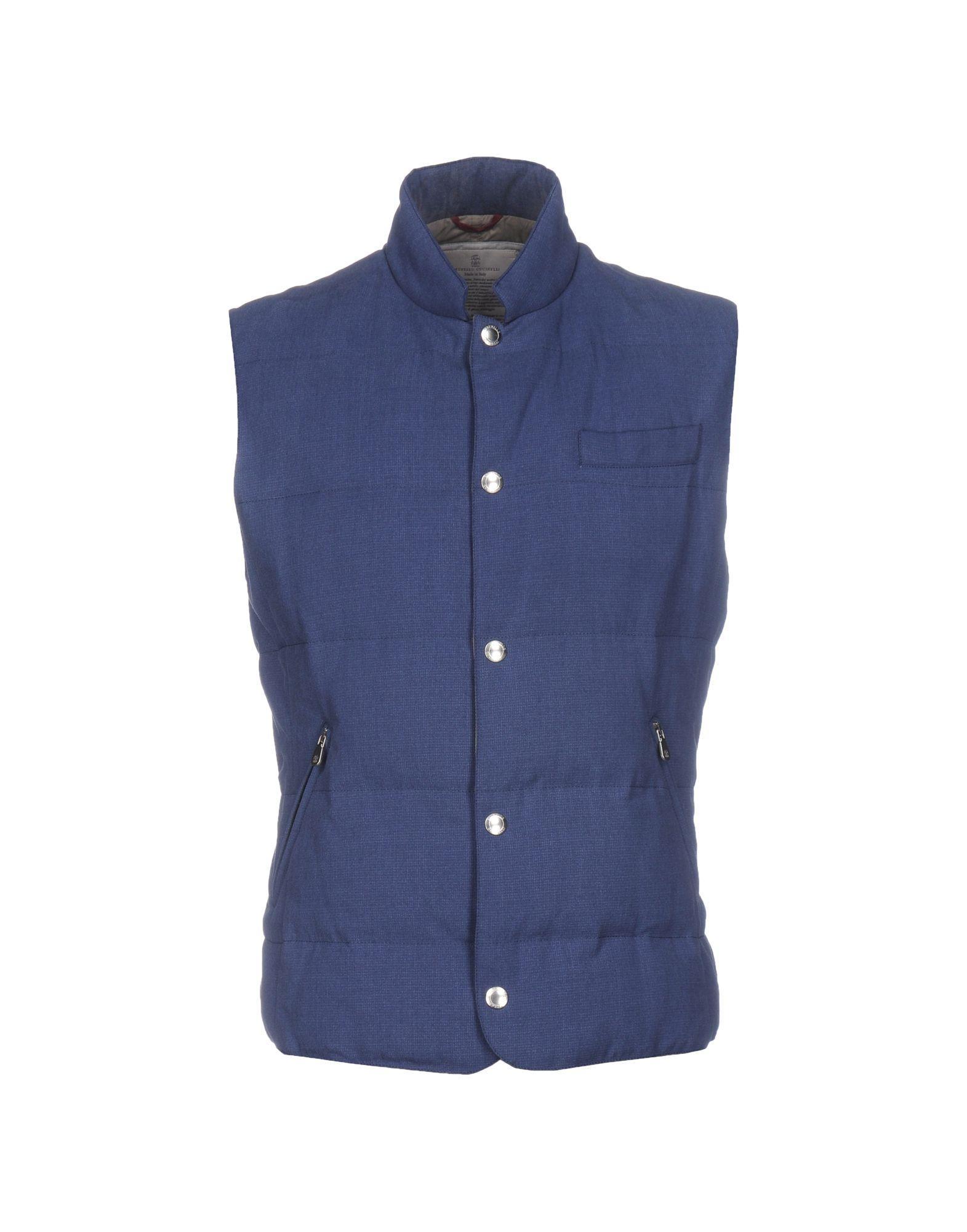 Brunello Cucinelli Down Jacket In Slate Blue