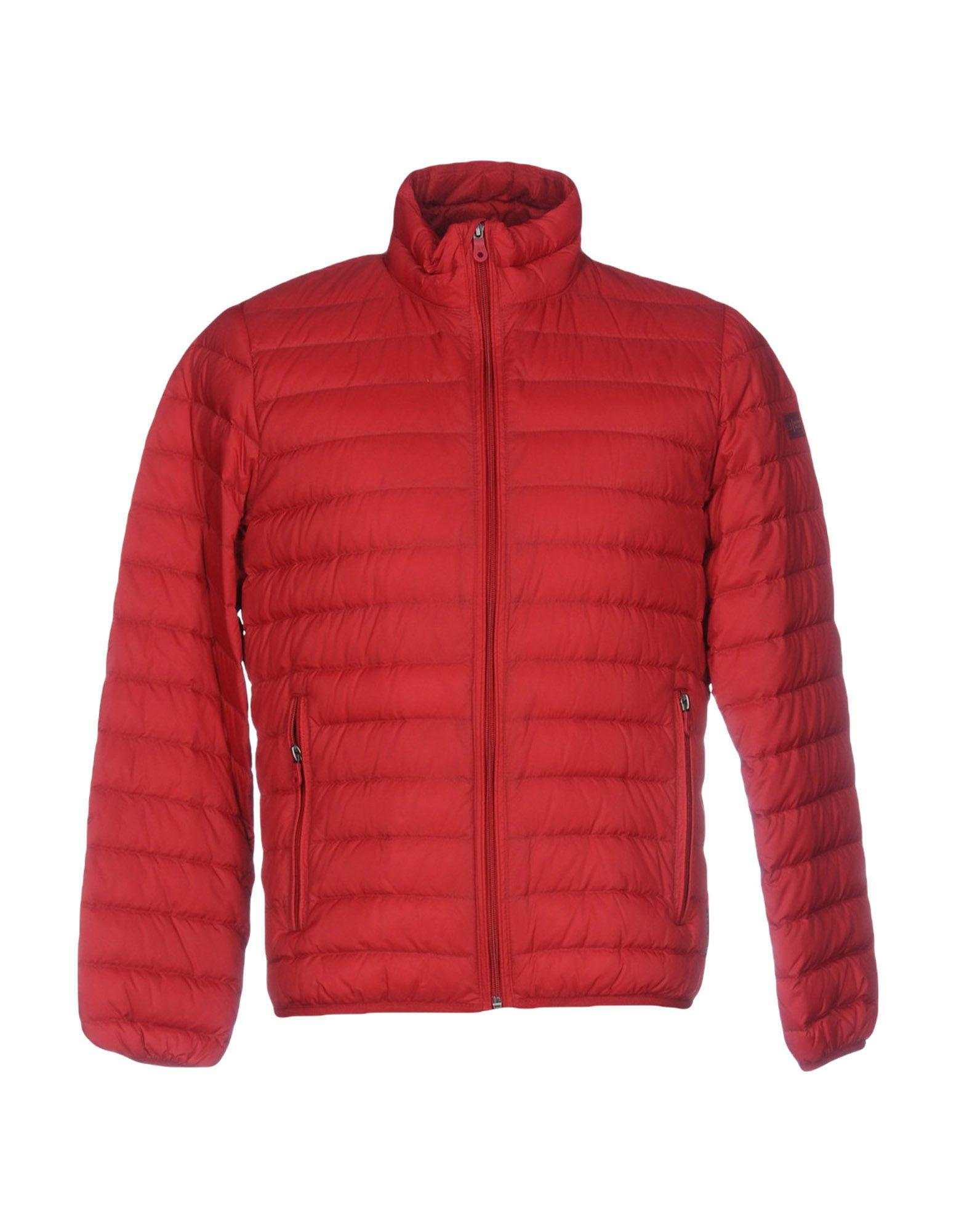 Armani Jeans Down Jackets In Red