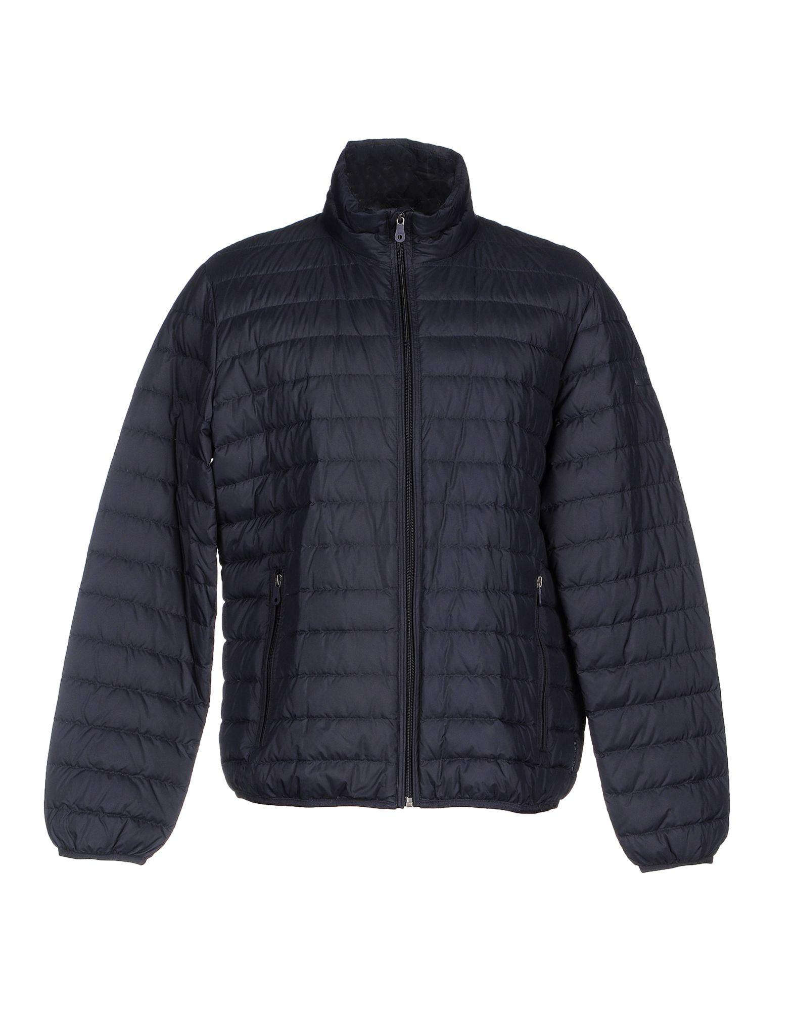 Armani Jeans Down Jackets In Dark Blue