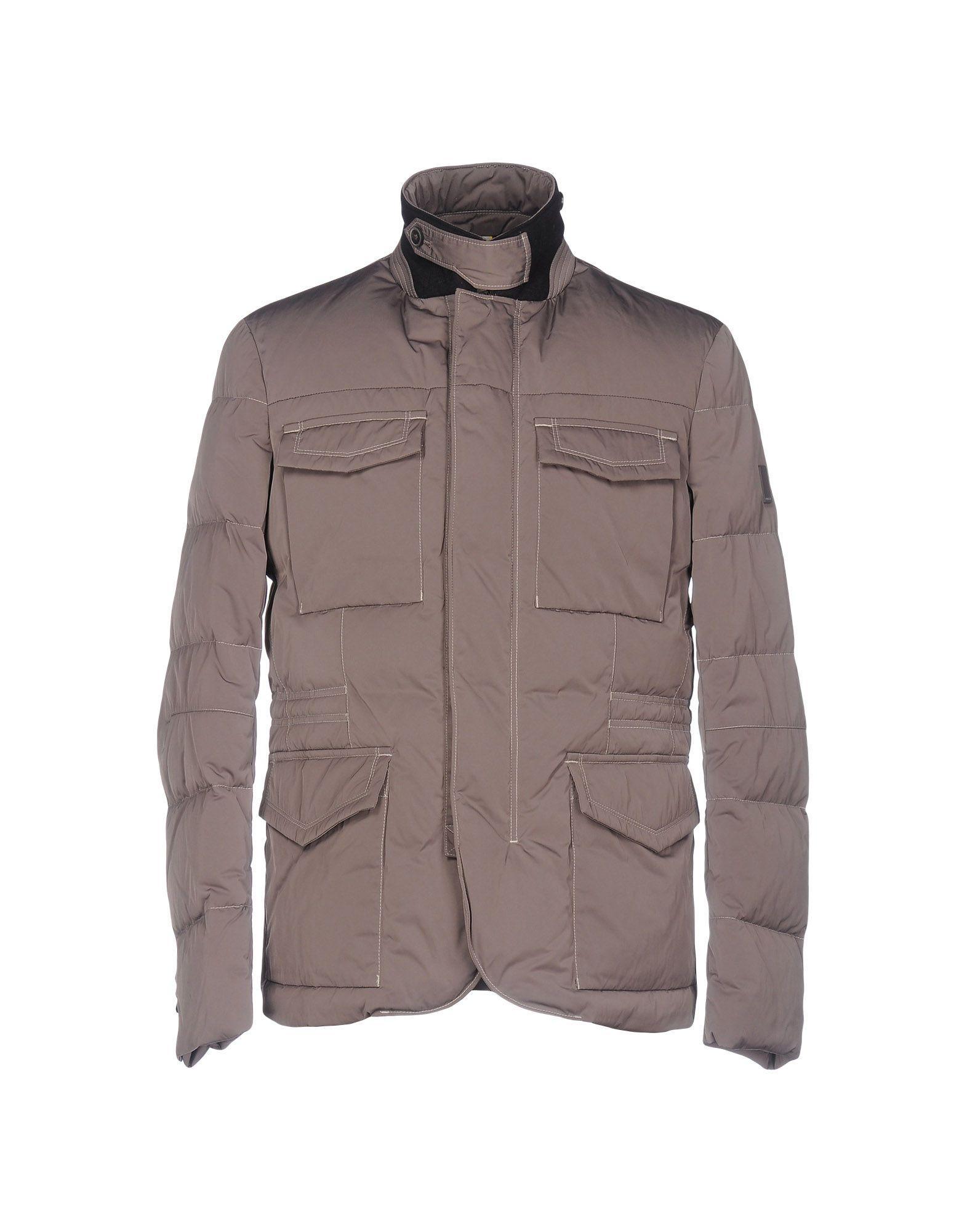 Geospirit Down Jackets In Grey