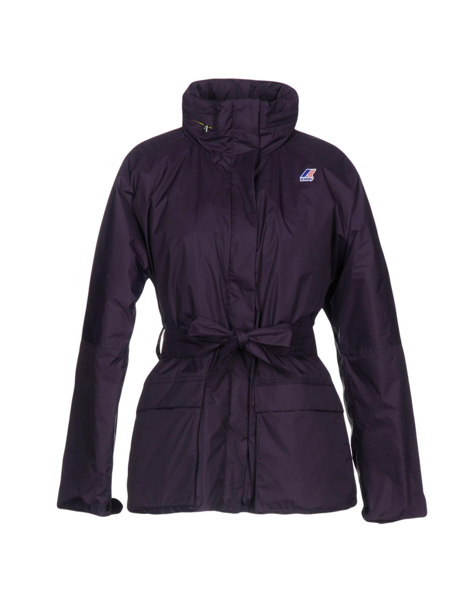K-way Down Jackets In Purple