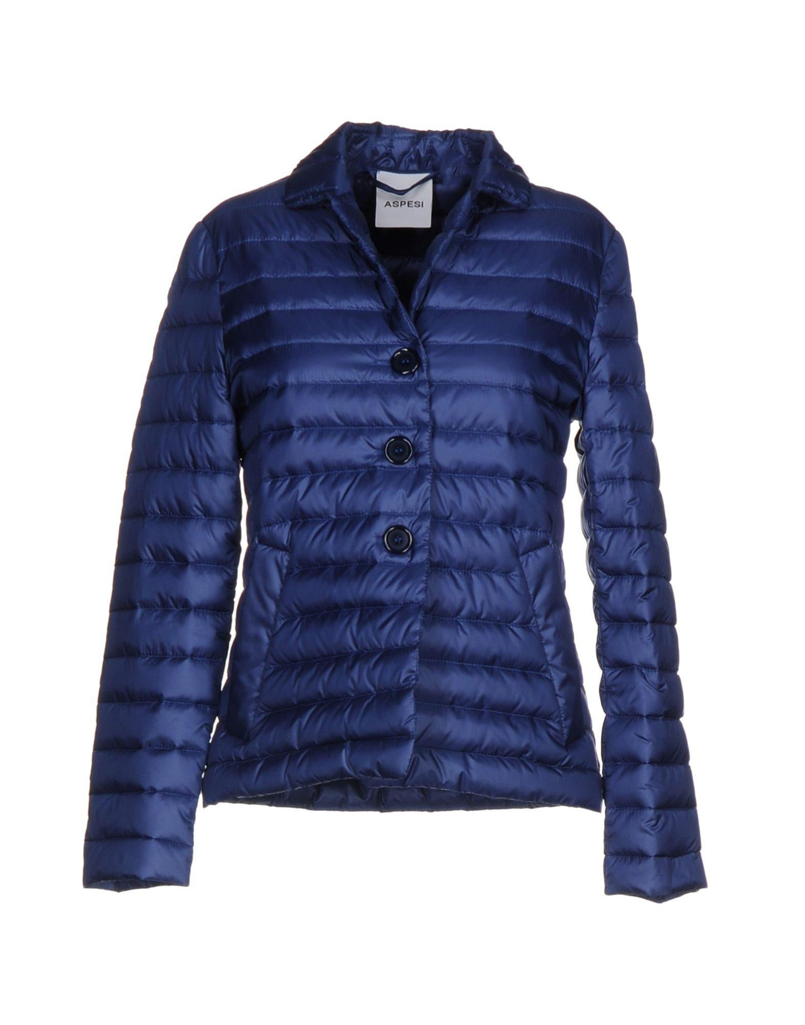 Aspesi Down Jacket In Blue