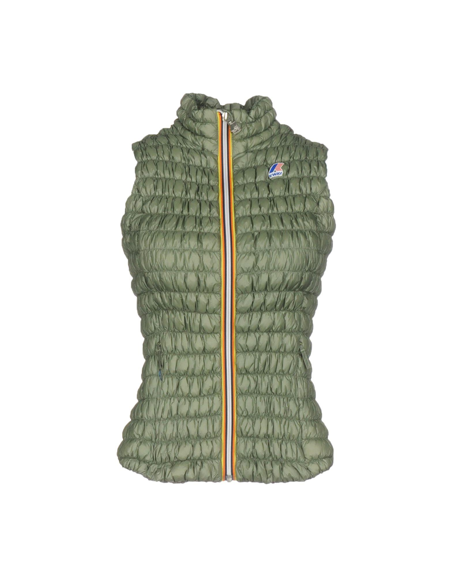 K-way Down Jackets In Military Green