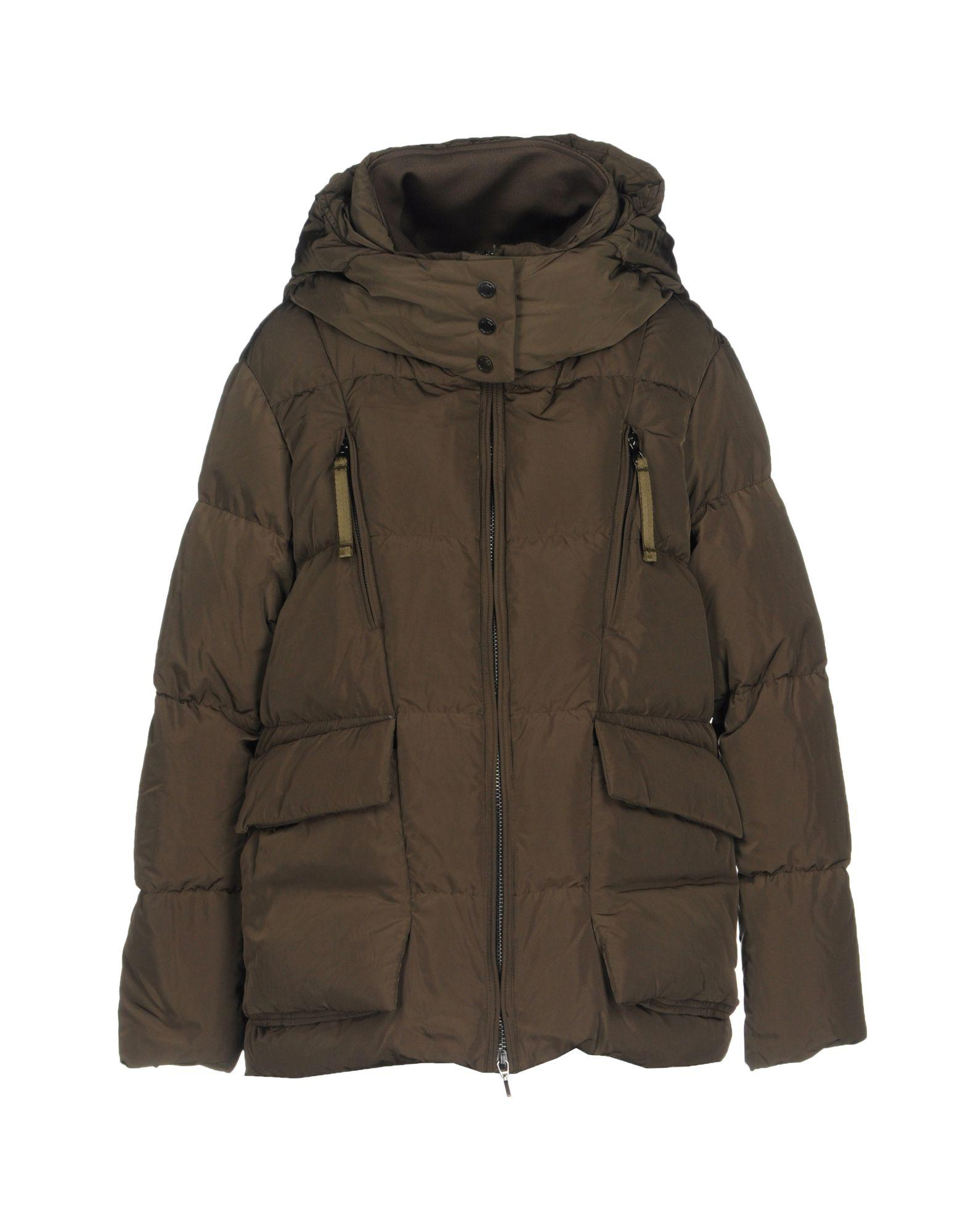 Geox Down Jackets In Military Green