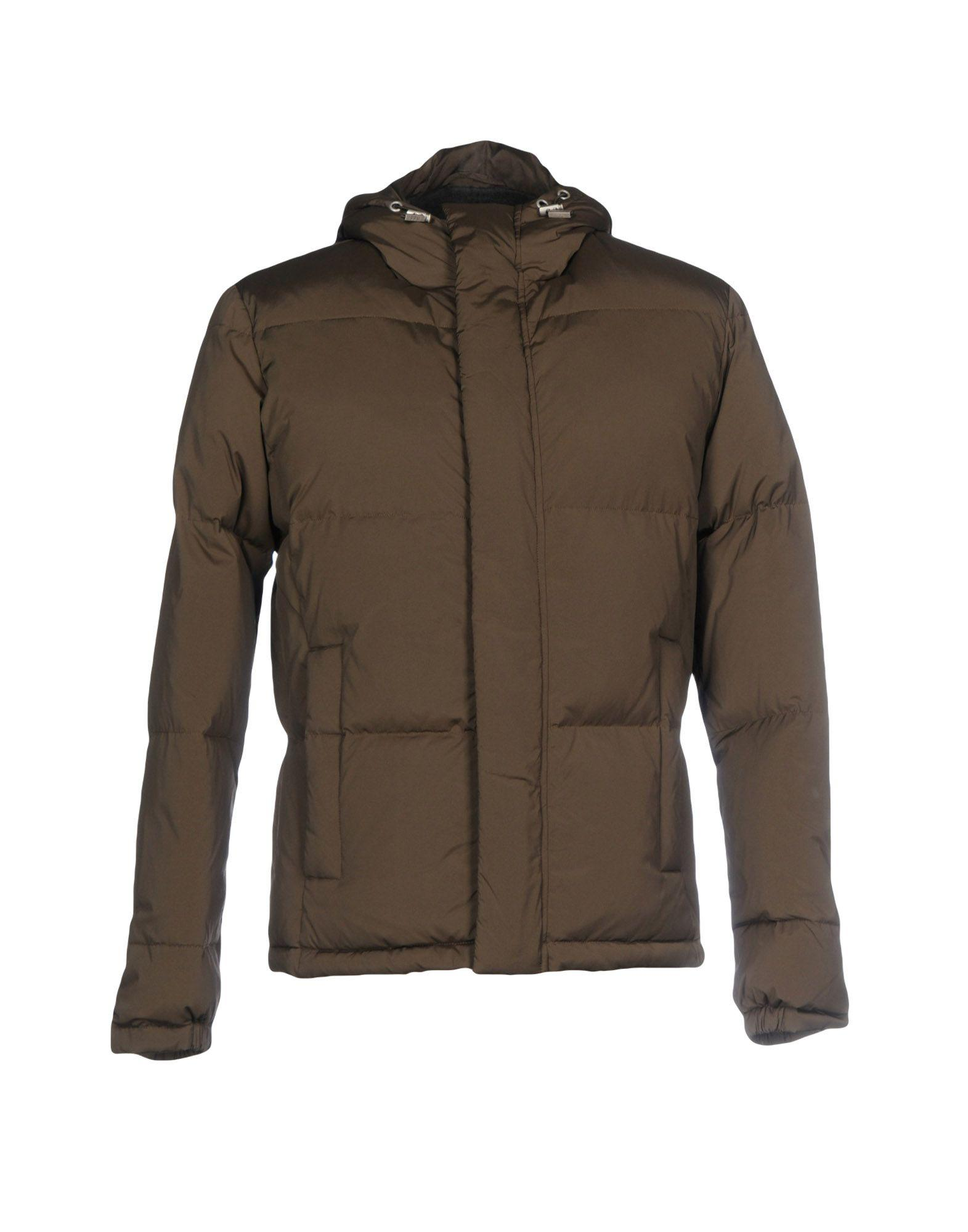 Paolo Pecora Down Jackets In Military Green