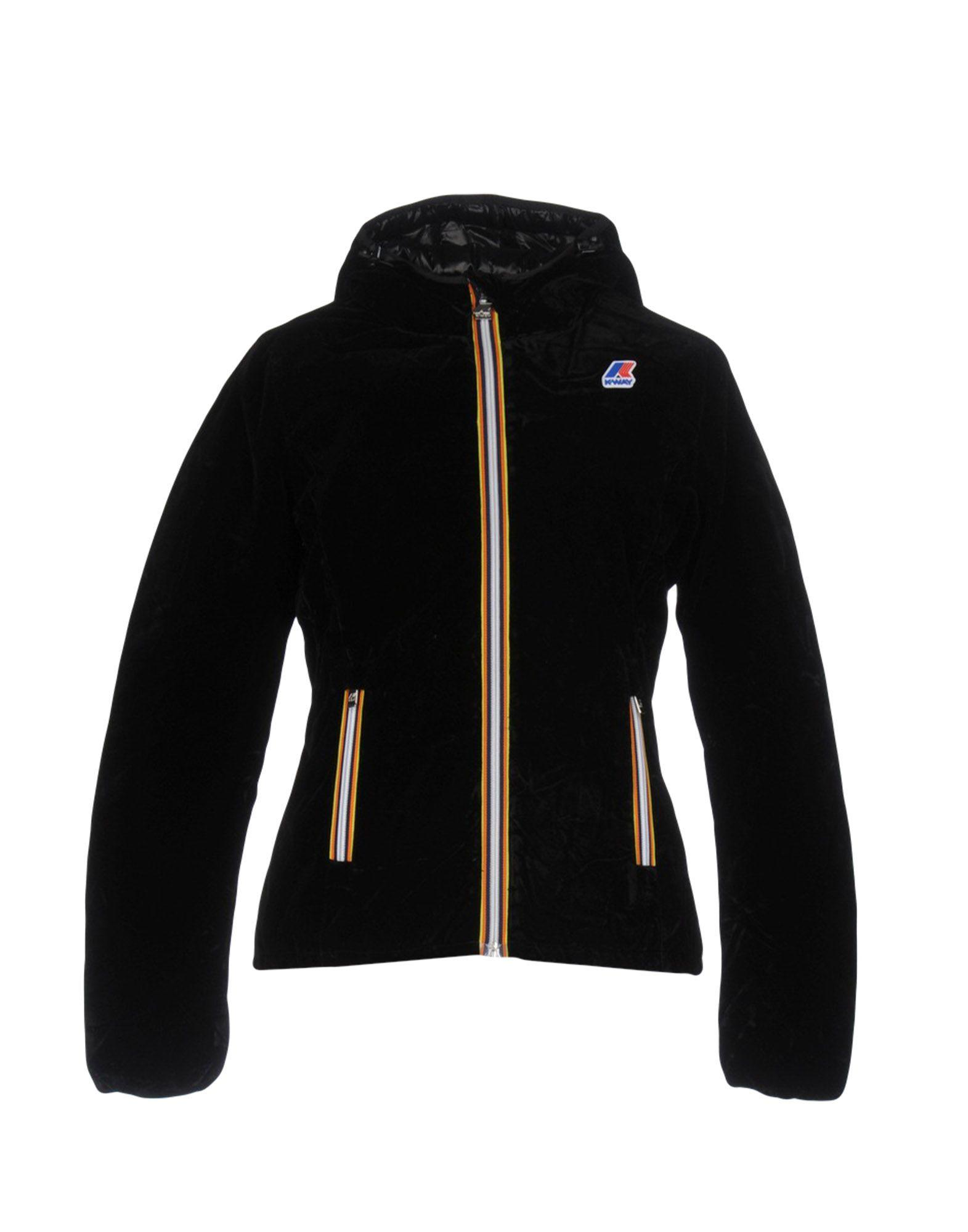 K-way Down Jacket In Black
