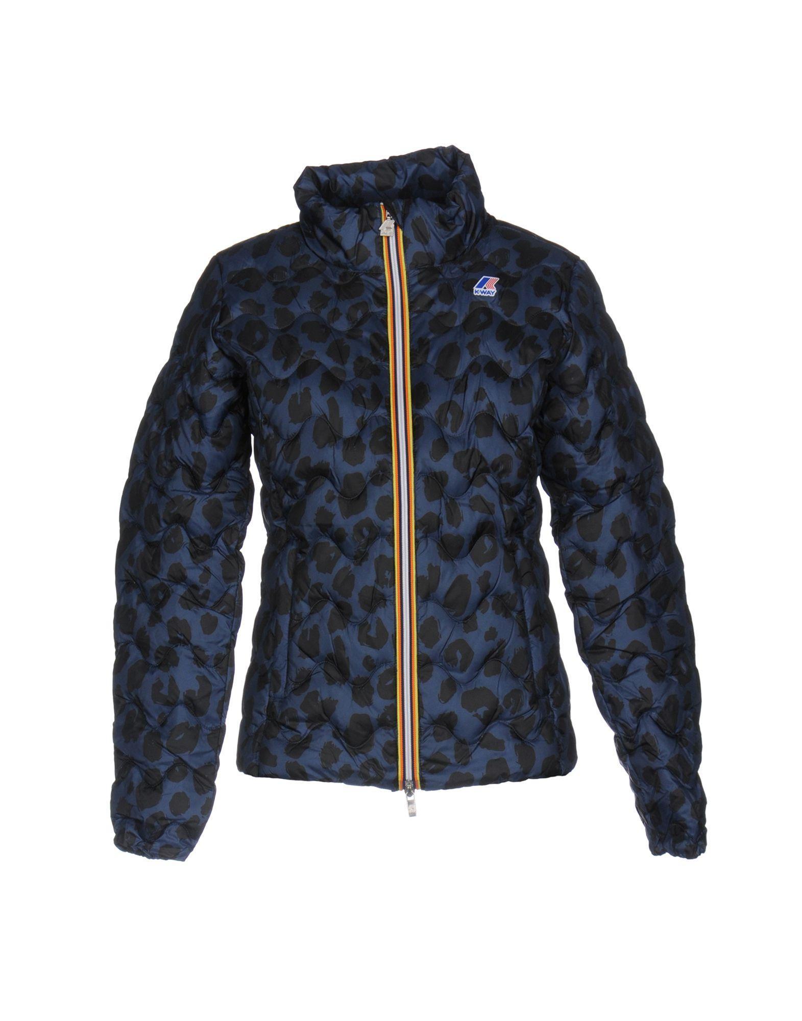 K-way Down Jacket In Dark Blue