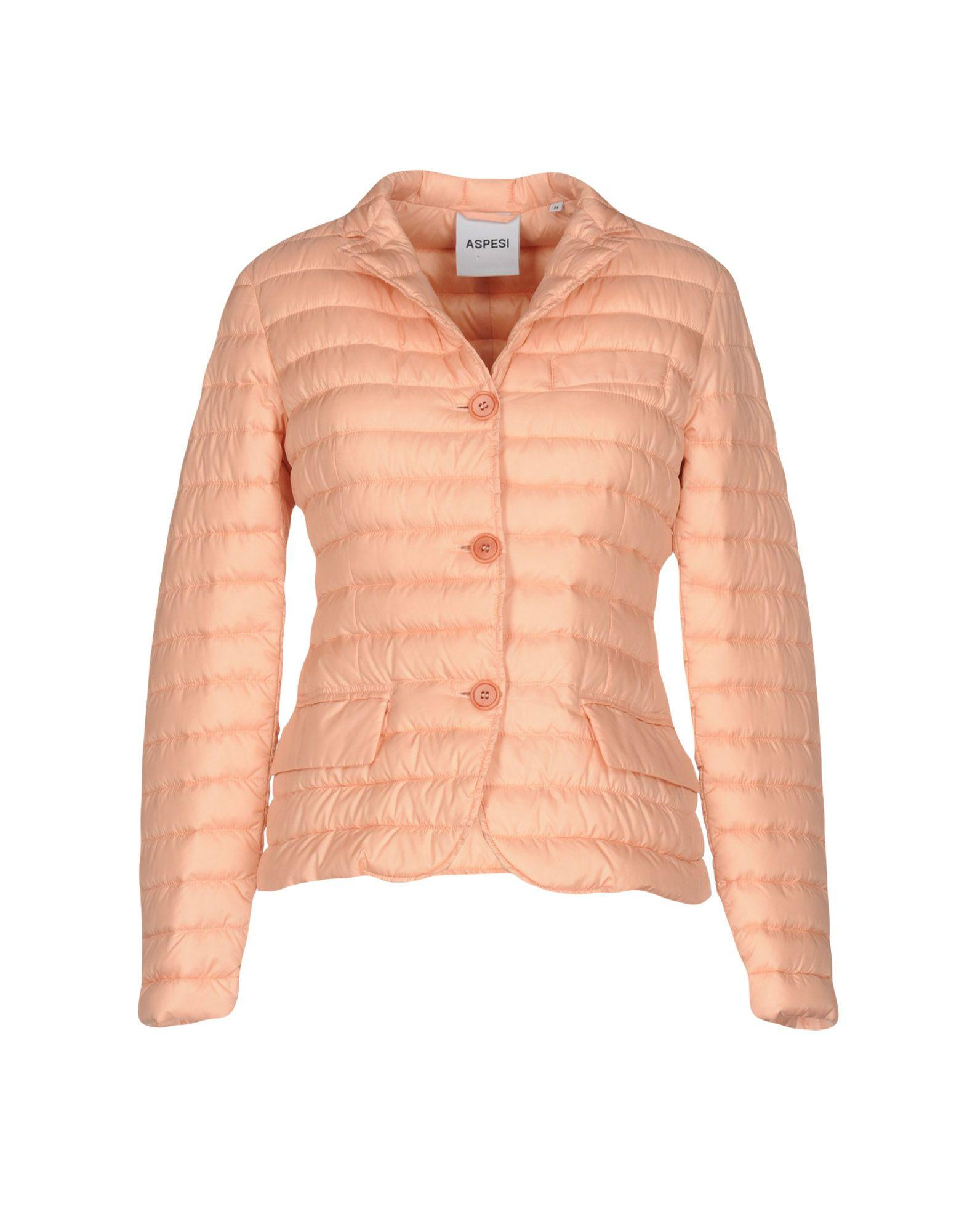 Aspesi Down Jackets In Salmon Pink